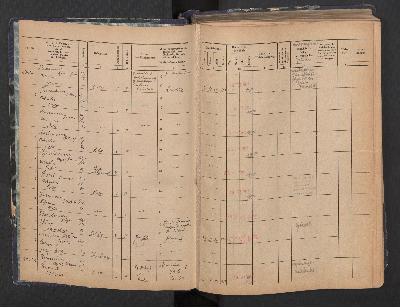 RA, Befehlshaber der Sicherheitspolizei und des SD, F/Fa/Faa/L0009: Fangeprotokoll. - Gefangenen-Buch B. Fangenr. 16201-18370, 1944-1945