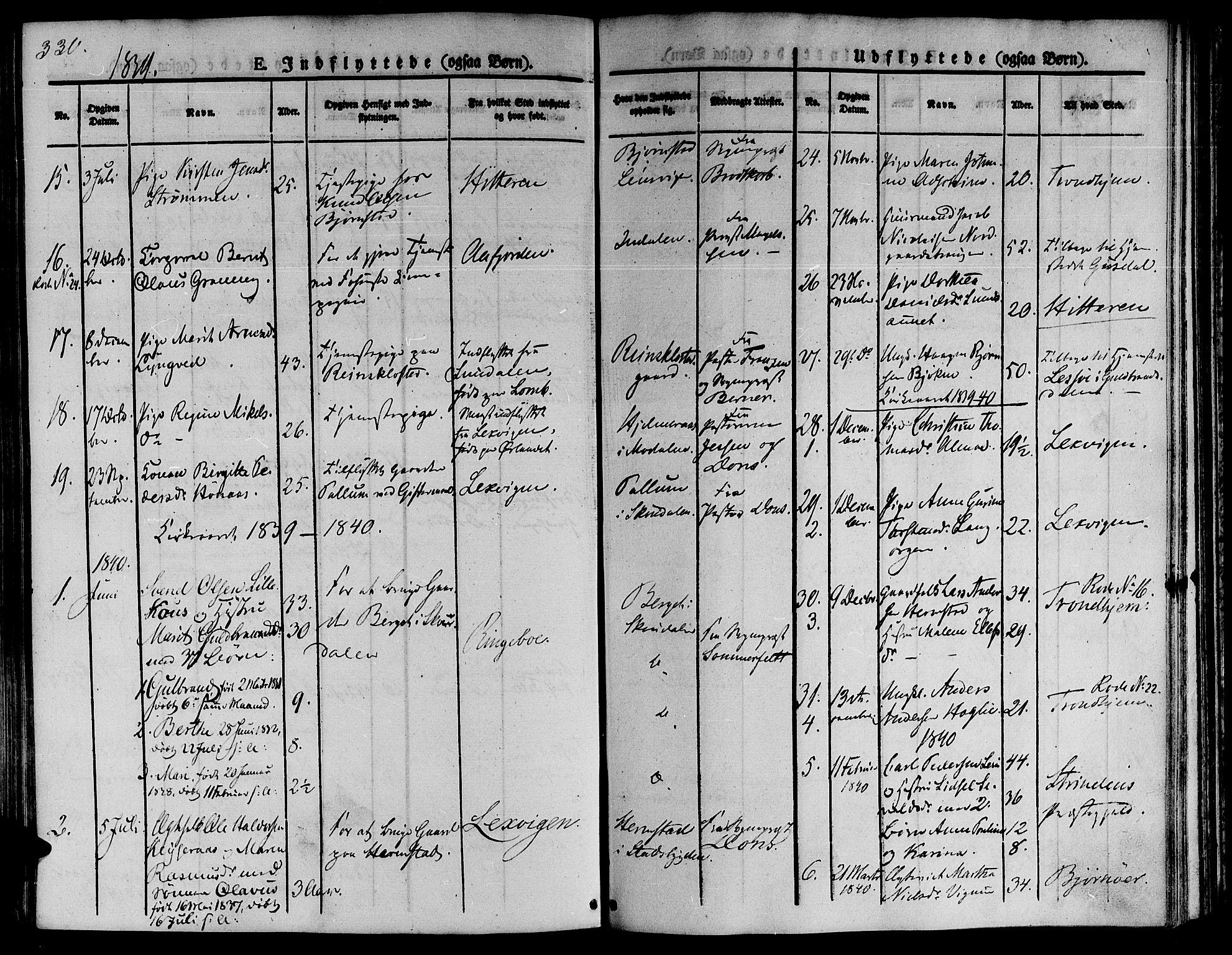 SAT, Ministerialprotokoller, klokkerbøker og fødselsregistre - Sør-Trøndelag, 646/L0610: Ministerialbok nr. 646A08, 1837-1847, s. 330