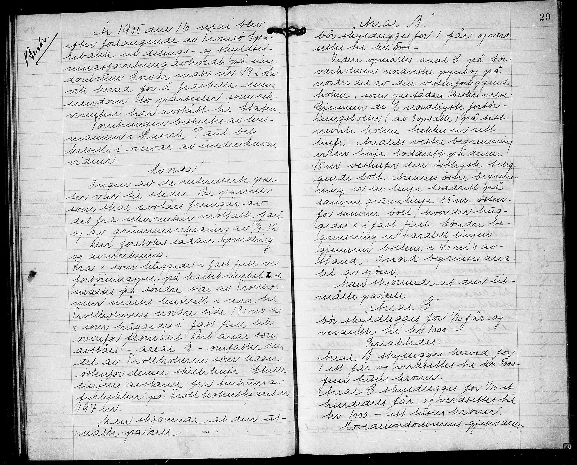 FIEI, Lensmannen i Hasvik (hos Finnmarkseiendommen)*, 1927-1938, s. 28b-29a