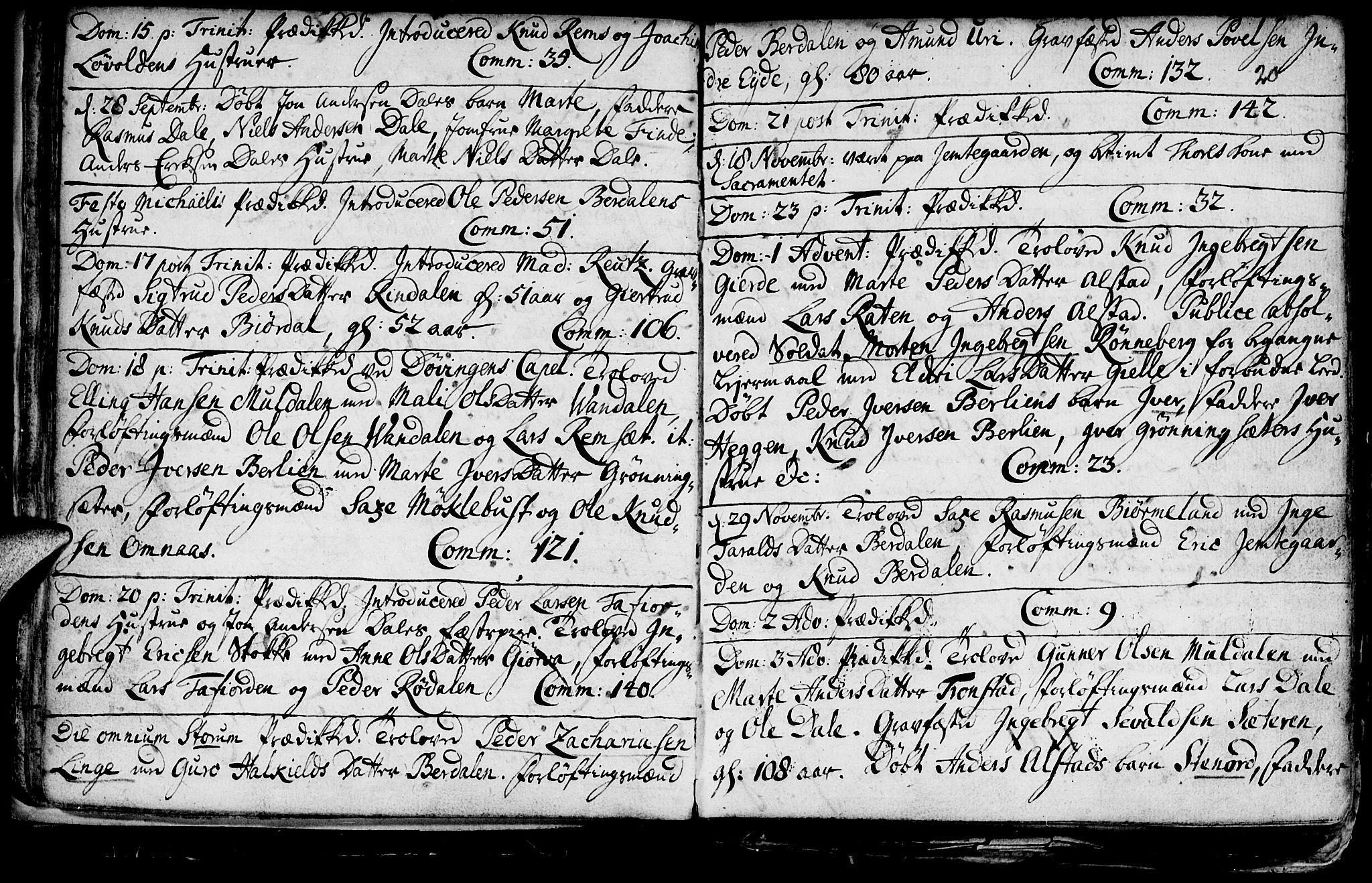 SAT, Ministerialprotokoller, klokkerbøker og fødselsregistre - Møre og Romsdal, 519/L0240: Ministerialbok nr. 519A01 /1, 1736-1760, s. 20