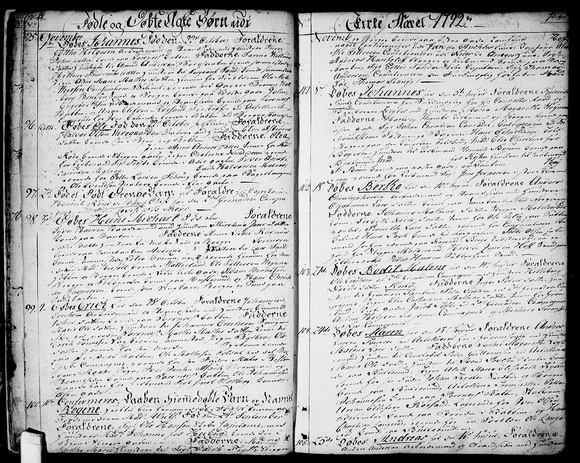 SAO, Halden prestekontor Kirkebøker, F/Fa/L0002: Ministerialbok nr. I 2, 1792-1812, s. 22-23