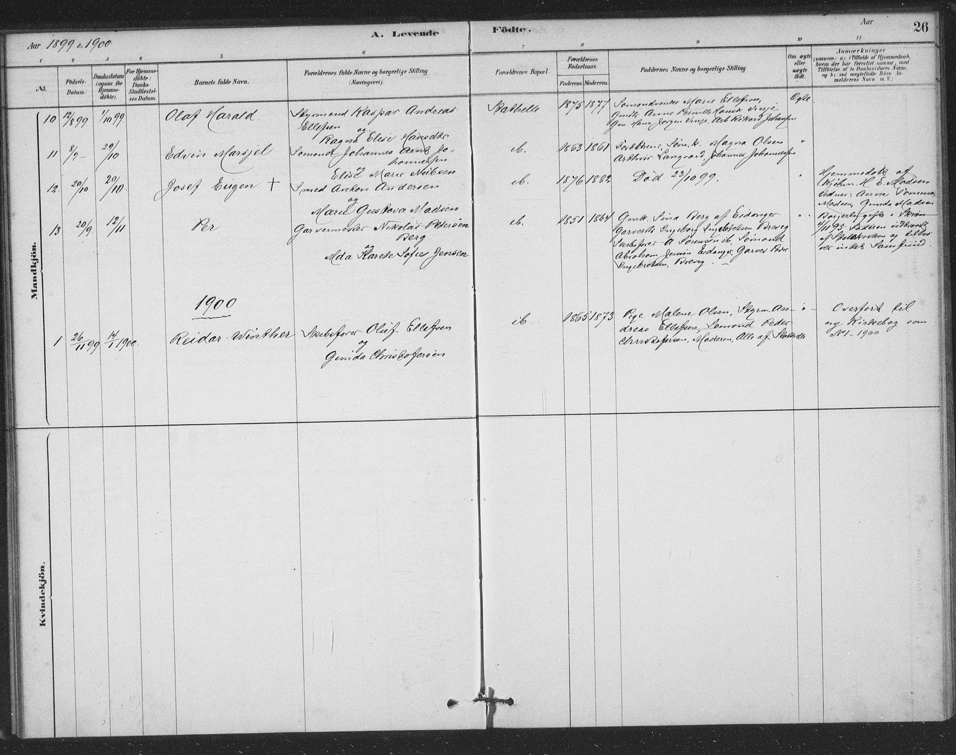 SAKO, Bamble kirkebøker, F/Fb/L0001: Ministerialbok nr. II 1, 1878-1899, s. 26