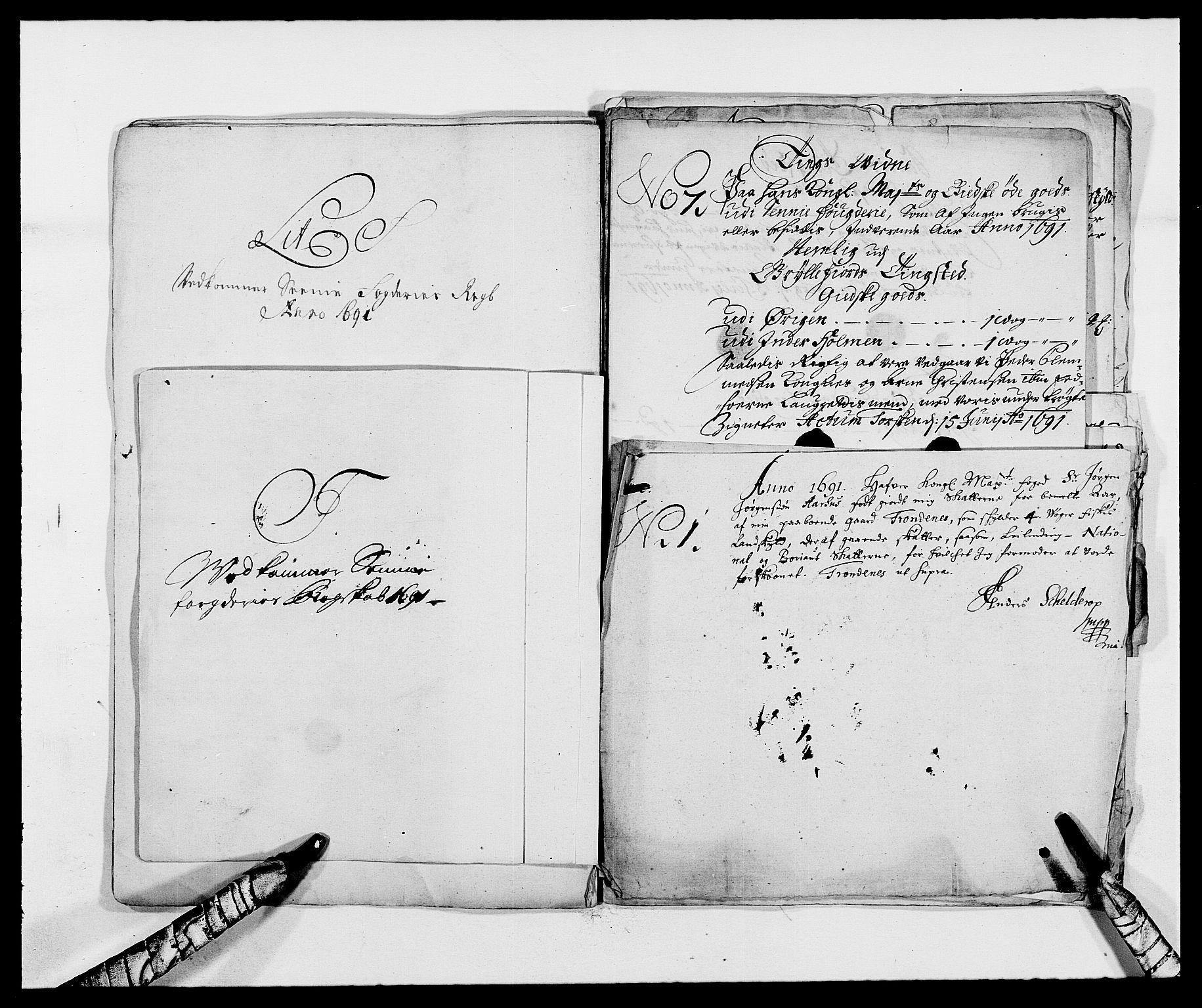 RA, Rentekammeret inntil 1814, Reviderte regnskaper, Fogderegnskap, R68/L4752: Fogderegnskap Senja og Troms, 1691-1693, s. 133