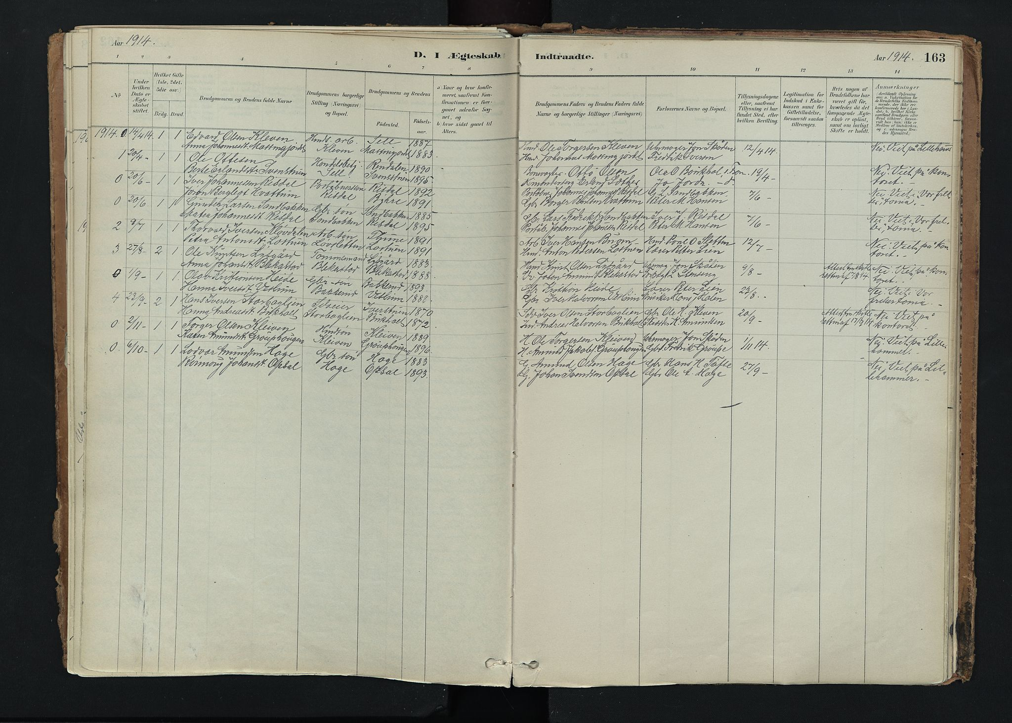 SAH, Nord-Fron prestekontor, Ministerialbok nr. 5, 1884-1914, s. 163