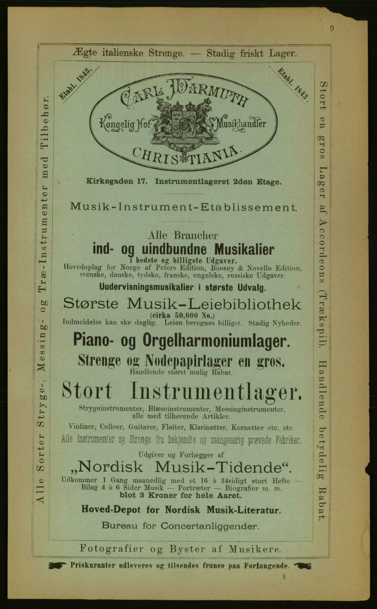 PUBL, Kristiania/Oslo adressebok, 1883, s. 9