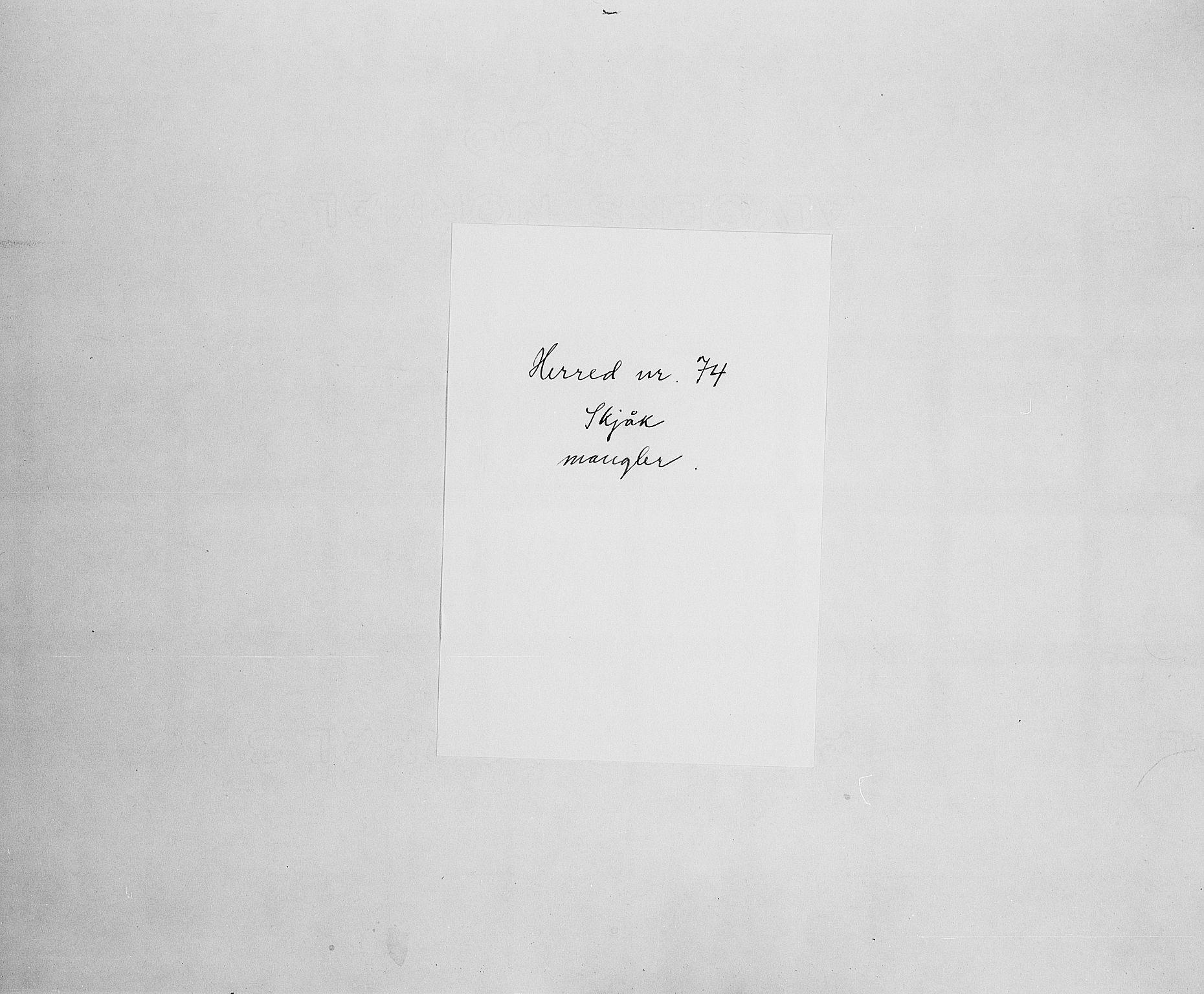 SAH, Folketelling 1900 for 0513 Skjåk herred, 1900, s. 1
