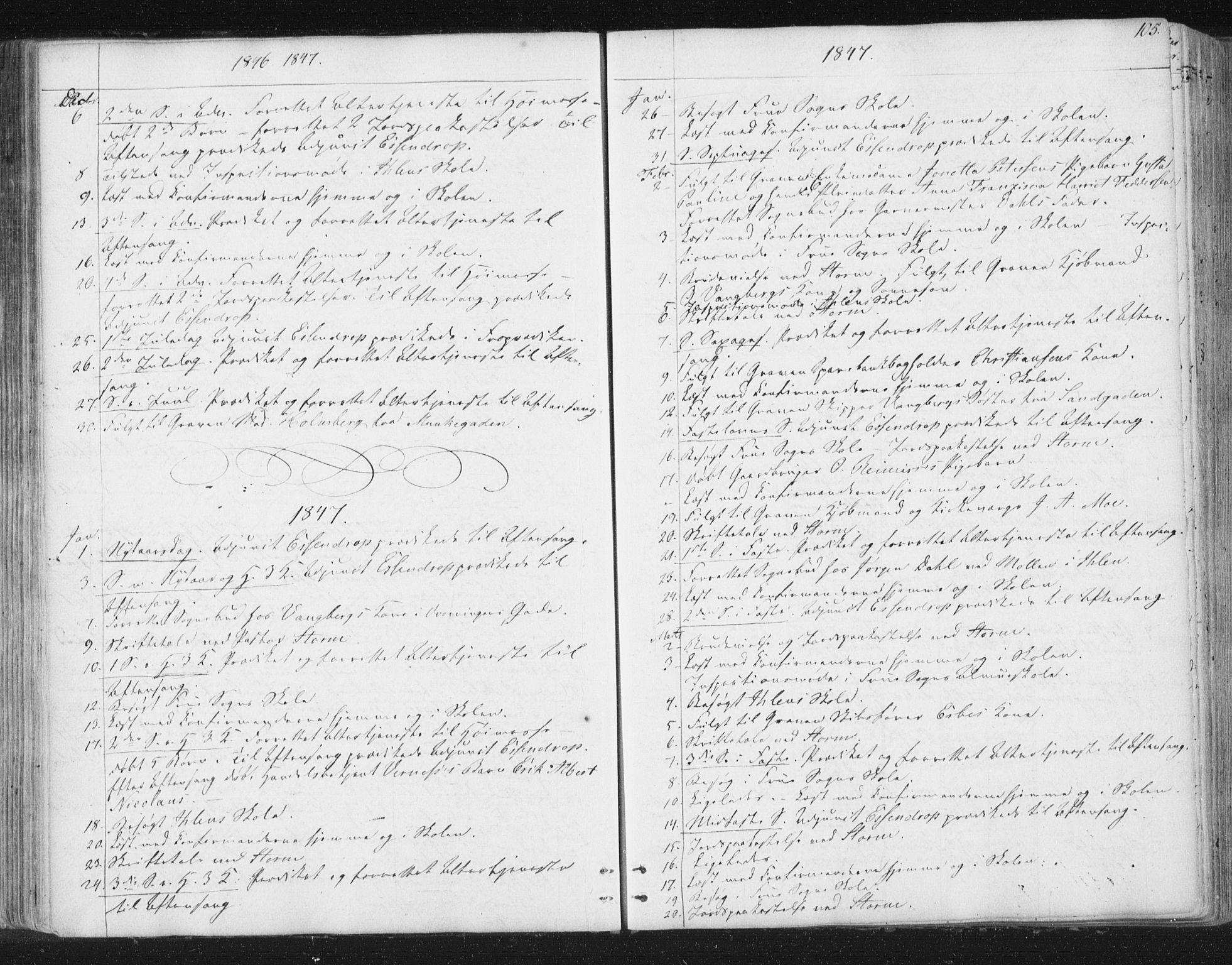 SAT, Ministerialprotokoller, klokkerbøker og fødselsregistre - Sør-Trøndelag, 602/L0127: Residerende kapellans bok nr. 602B01, 1821-1875, s. 105