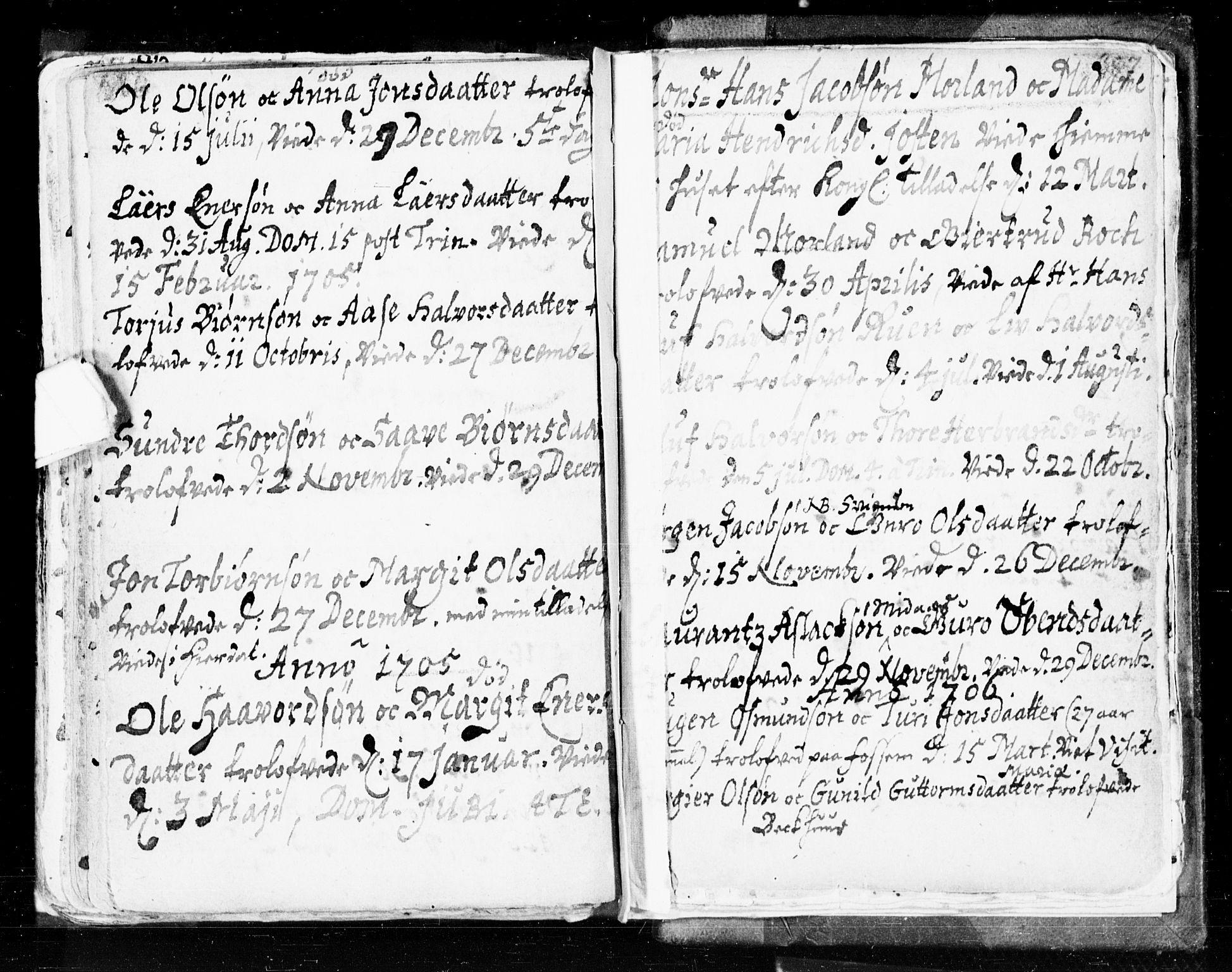 SAKO, Seljord kirkebøker, F/Fa/L0002: Ministerialbok nr. I 2, 1689-1713, s. 386-387