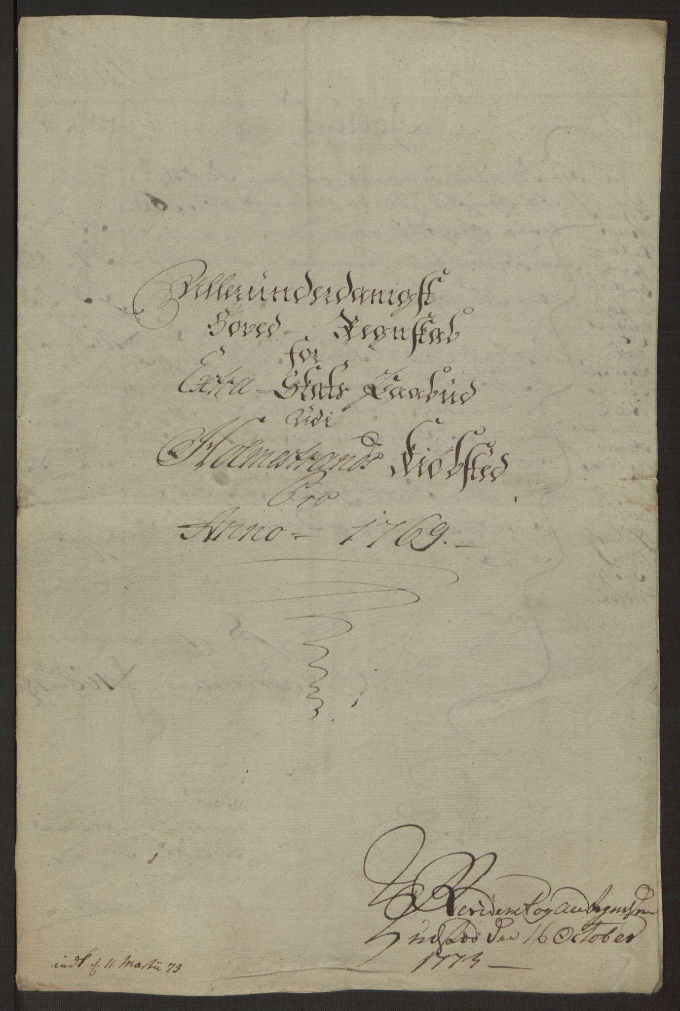 RA, Rentekammeret inntil 1814, Reviderte regnskaper, Byregnskaper, R/Rh/L0163: [H4] Kontribusjonsregnskap, 1762-1772, s. 397