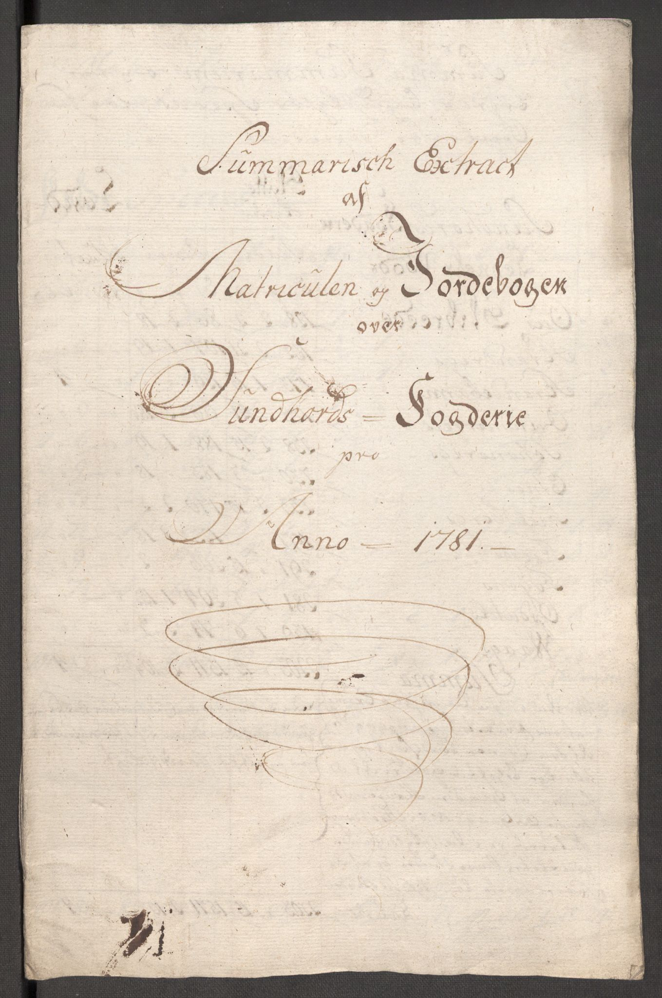 RA, Rentekammeret inntil 1814, Reviderte regnskaper, Fogderegnskap, R48/L3097: Fogderegnskap Sunnhordland og Hardanger, 1781, s. 44