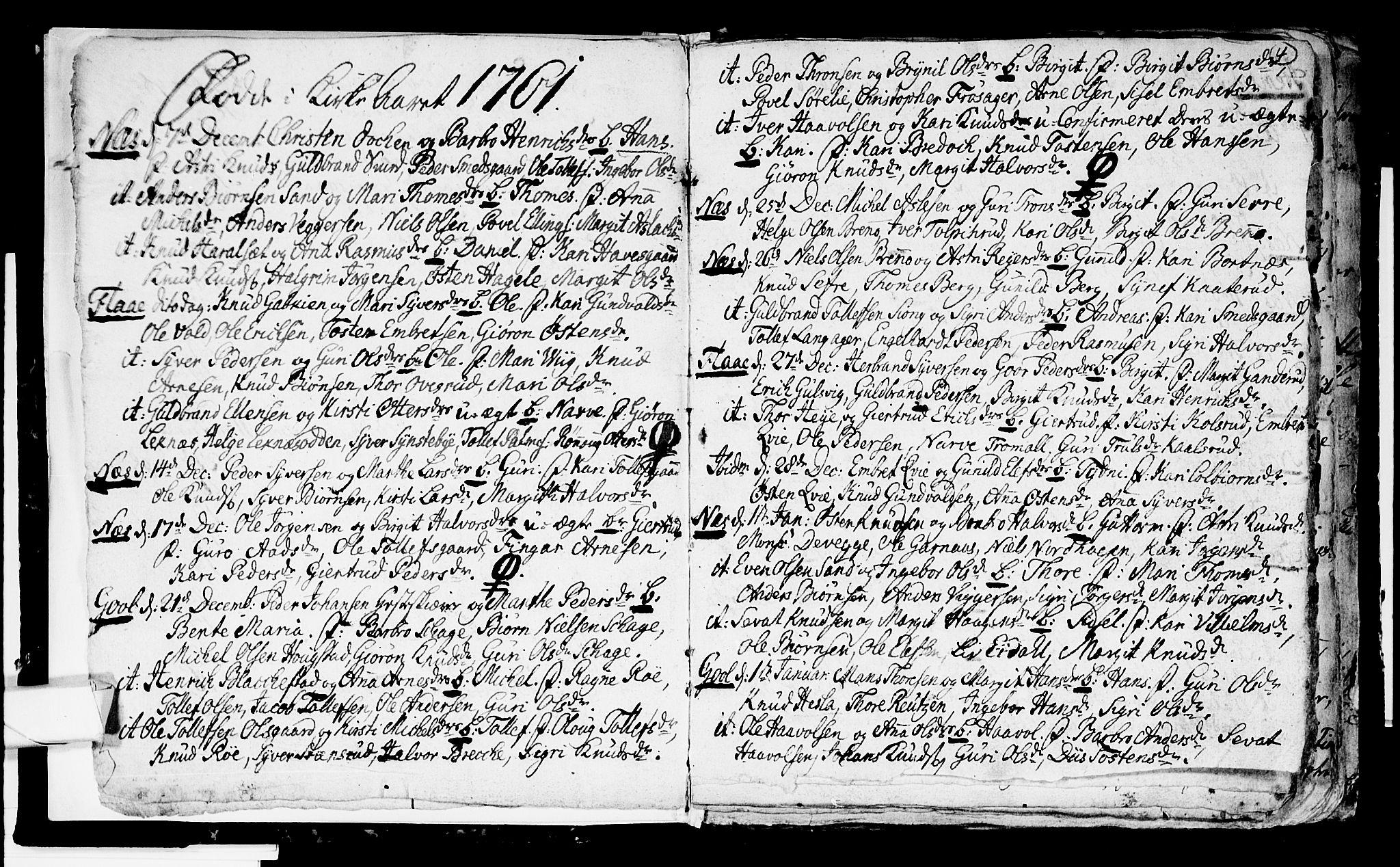 SAKO, Nes kirkebøker, F/Fa/L0003: Ministerialbok nr. 3, 1760-1764, s. 4