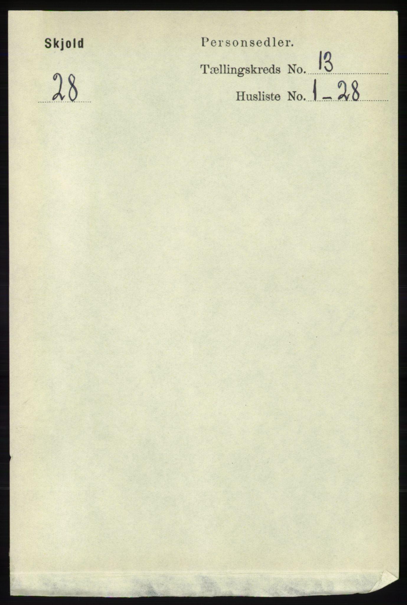 RA, Folketelling 1891 for 1154 Skjold herred, 1891, s. 2400