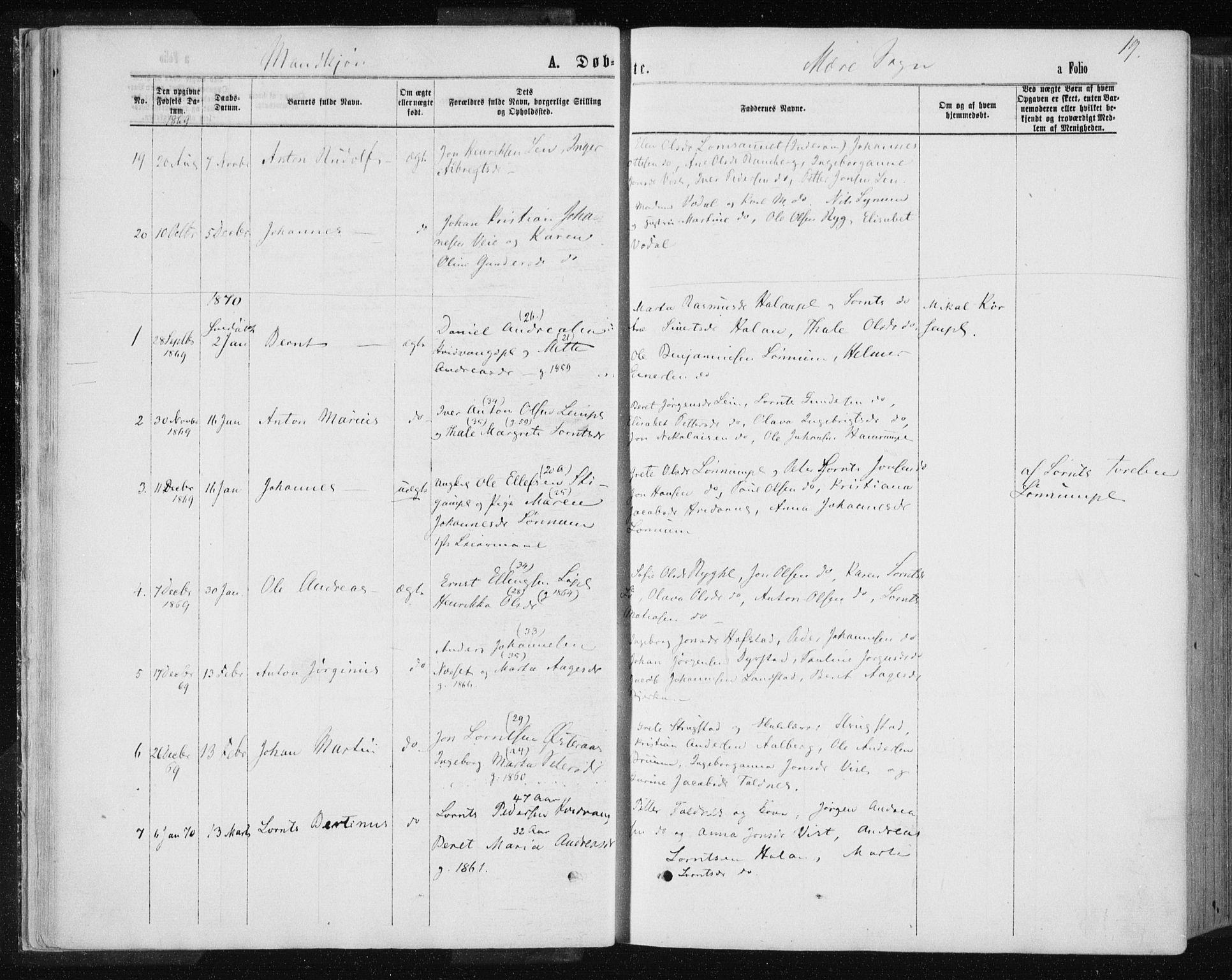 SAT, Ministerialprotokoller, klokkerbøker og fødselsregistre - Nord-Trøndelag, 735/L0345: Ministerialbok nr. 735A08 /1, 1863-1872, s. 19