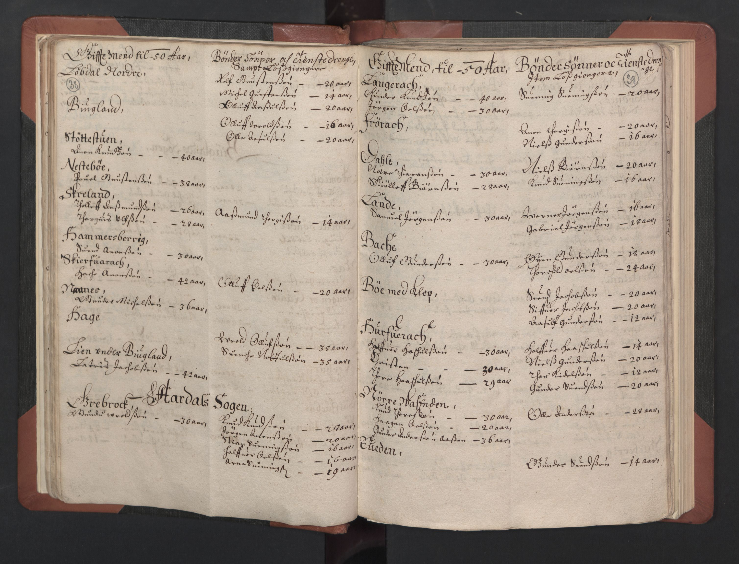 RA, Fogdenes og sorenskrivernes manntall 1664-1666, nr. 8: Råbyggelaget fogderi, 1664-1665, s. 38-39