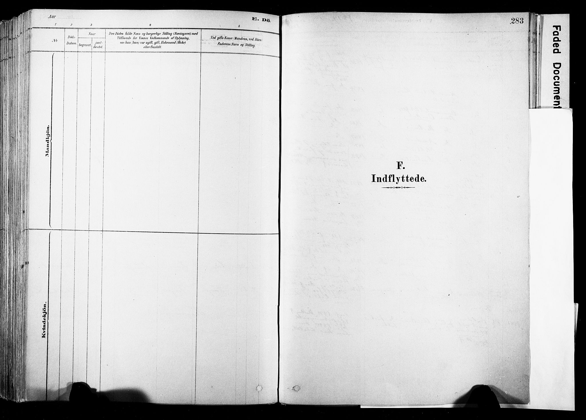 SAKO, Strømsø kirkebøker, F/Fb/L0006: Ministerialbok nr. II 6, 1879-1910, s. 283