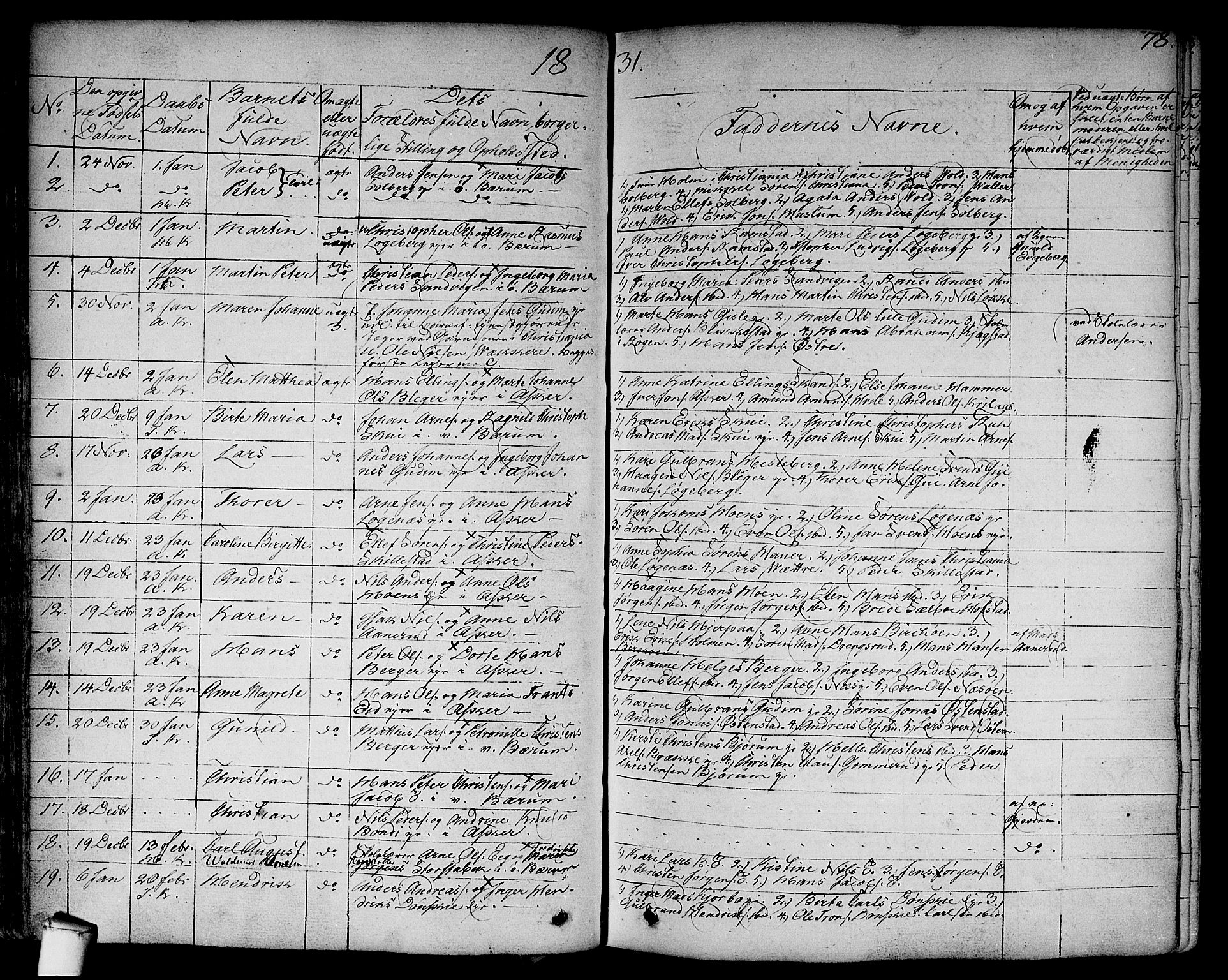 SAO, Asker prestekontor Kirkebøker, F/Fa/L0007: Ministerialbok nr. I 7, 1825-1864, s. 78