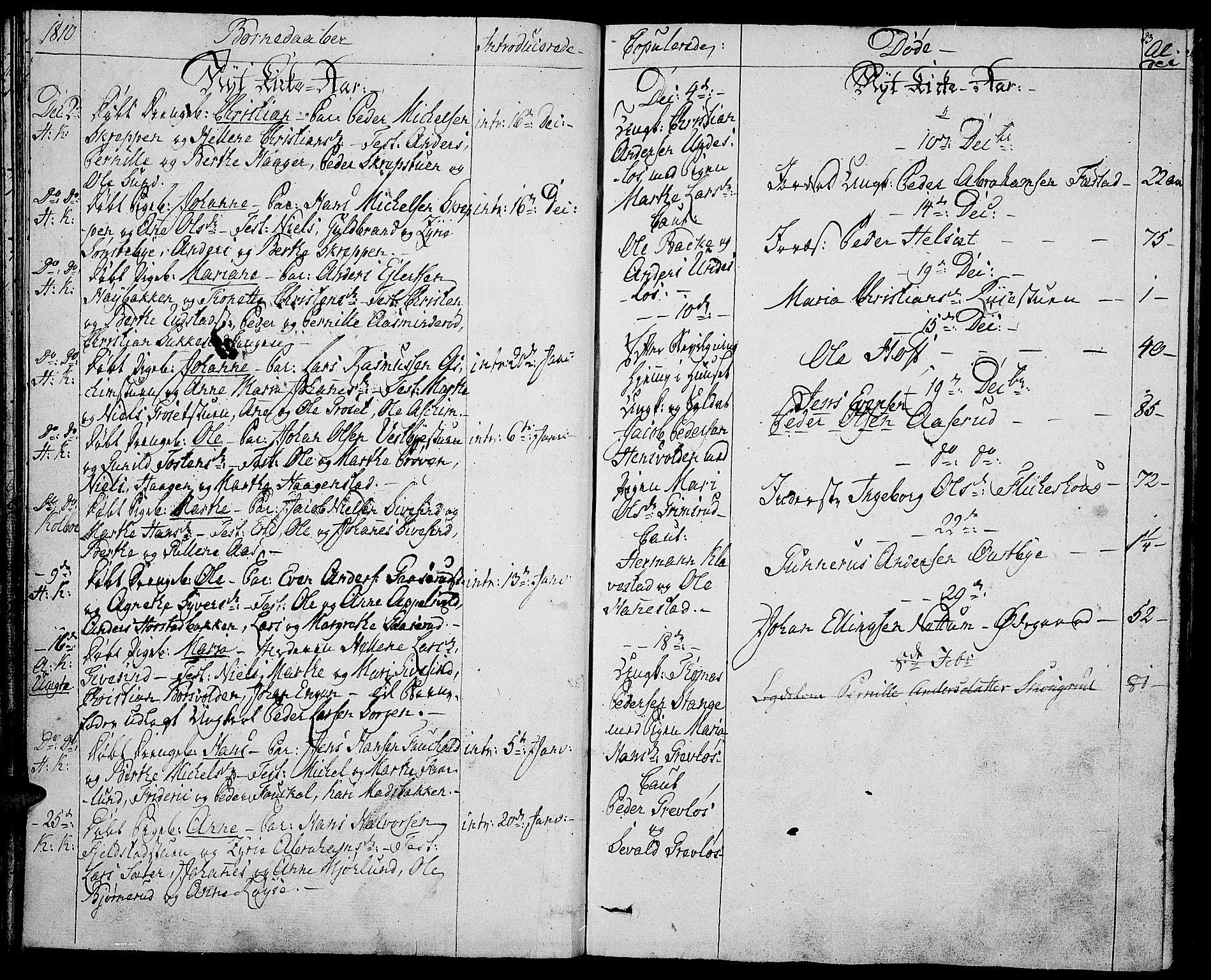 SAH, Toten prestekontor, Ministerialbok nr. 8, 1809-1814, s. 23