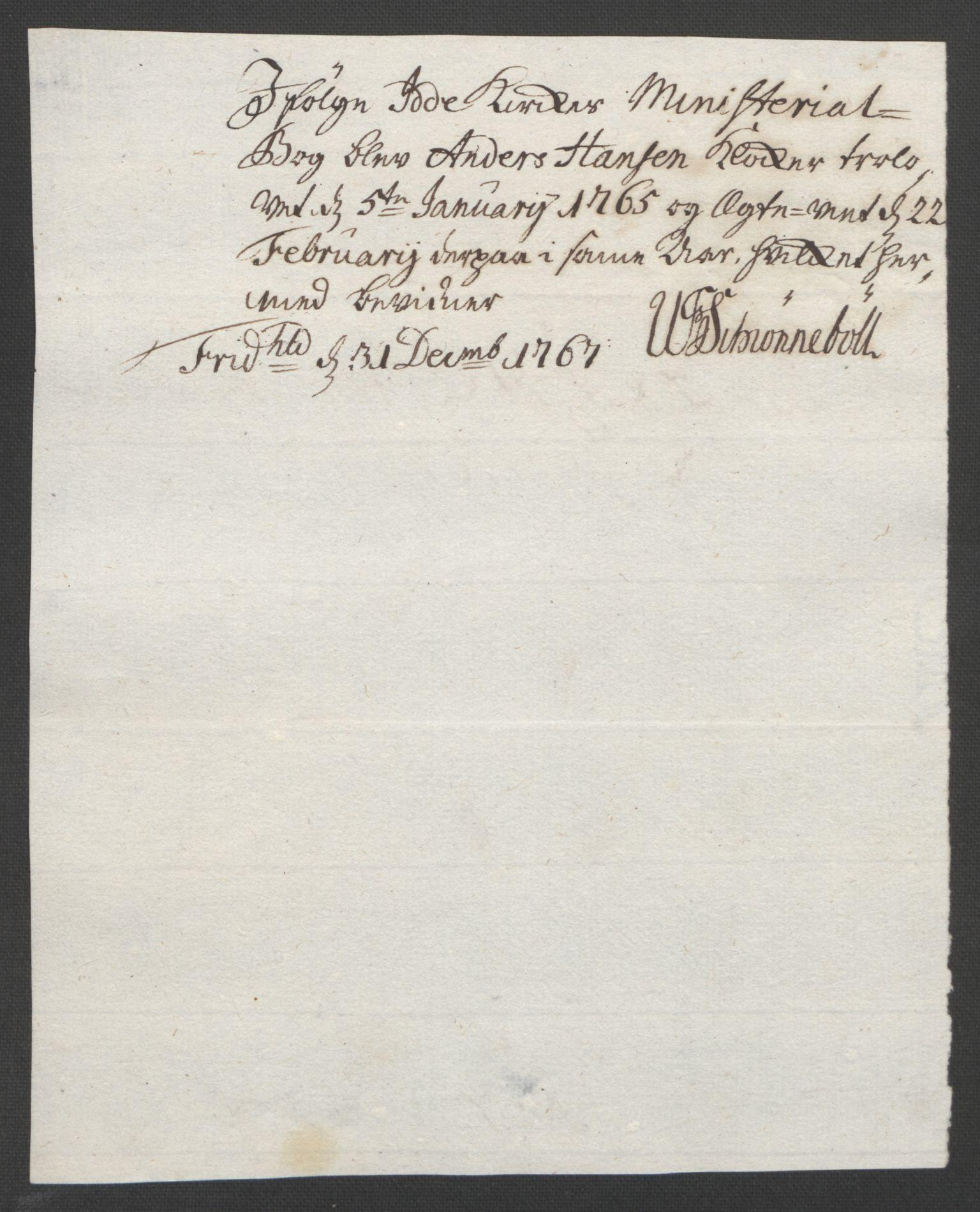 RA, Rentekammeret inntil 1814, Reviderte regnskaper, Fogderegnskap, R01/L0097: Ekstraskatten Idd og Marker, 1756-1767, s. 334