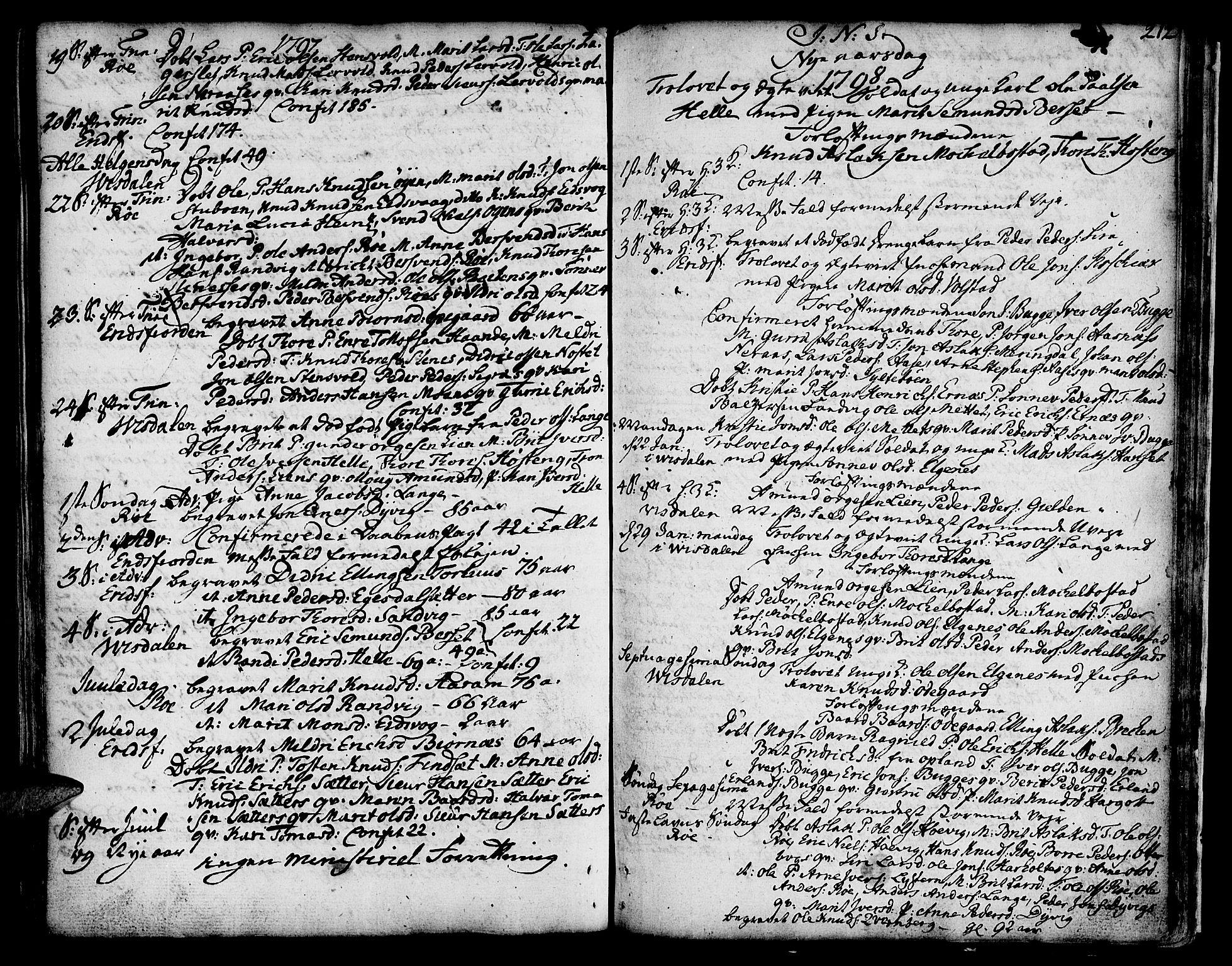 SAT, Ministerialprotokoller, klokkerbøker og fødselsregistre - Møre og Romsdal, 551/L0621: Ministerialbok nr. 551A01, 1757-1803, s. 212