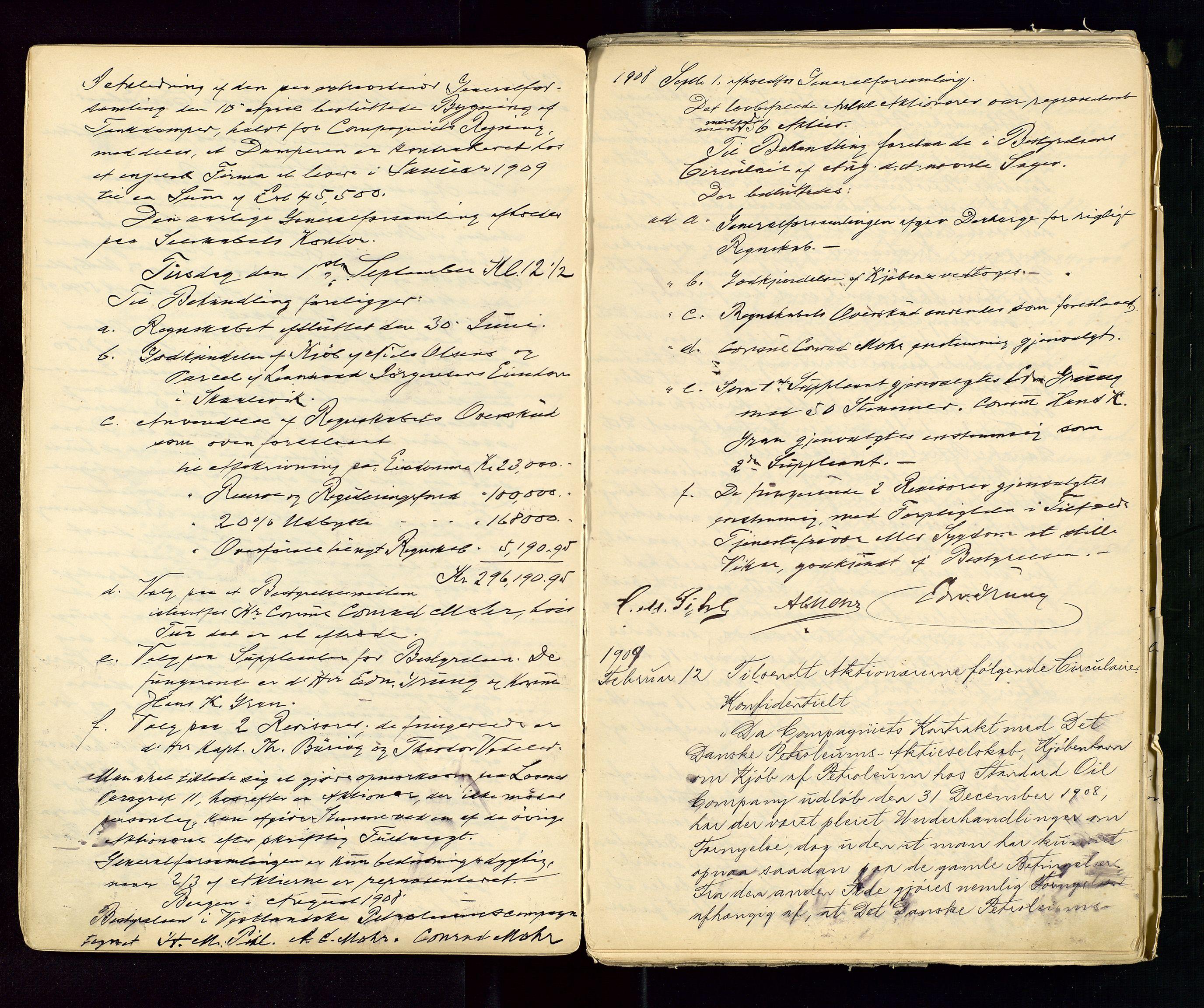 SAST, PA 1533 - A/S Vestlandske Petroleumscompani, A/Aa/L0001: Generalforsamlinger og styreprotokoller, 1890-1953, s. 36