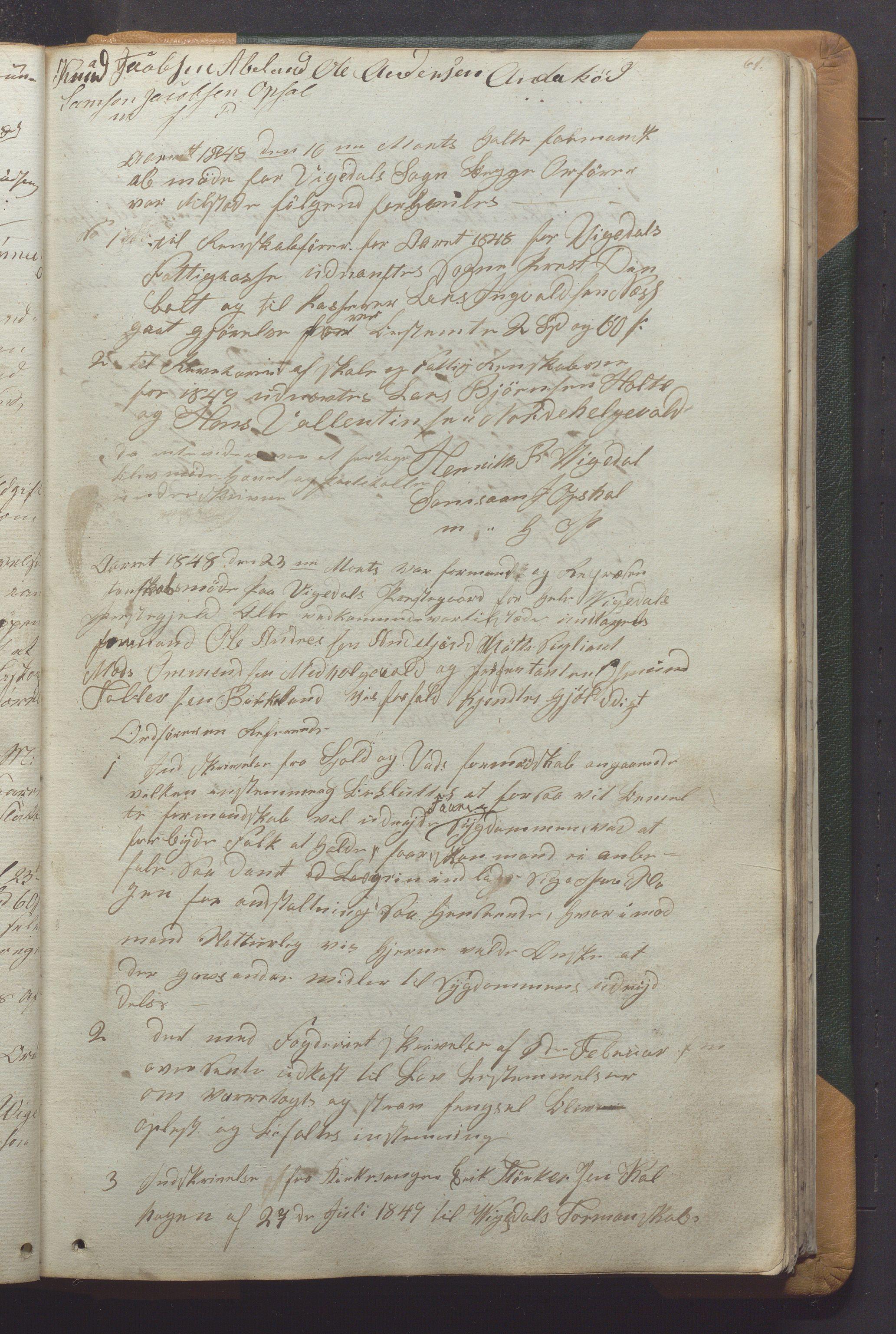 IKAR, Vikedal kommune - Formannskapet, Aaa/L0001: Møtebok, 1837-1874, s. 61a