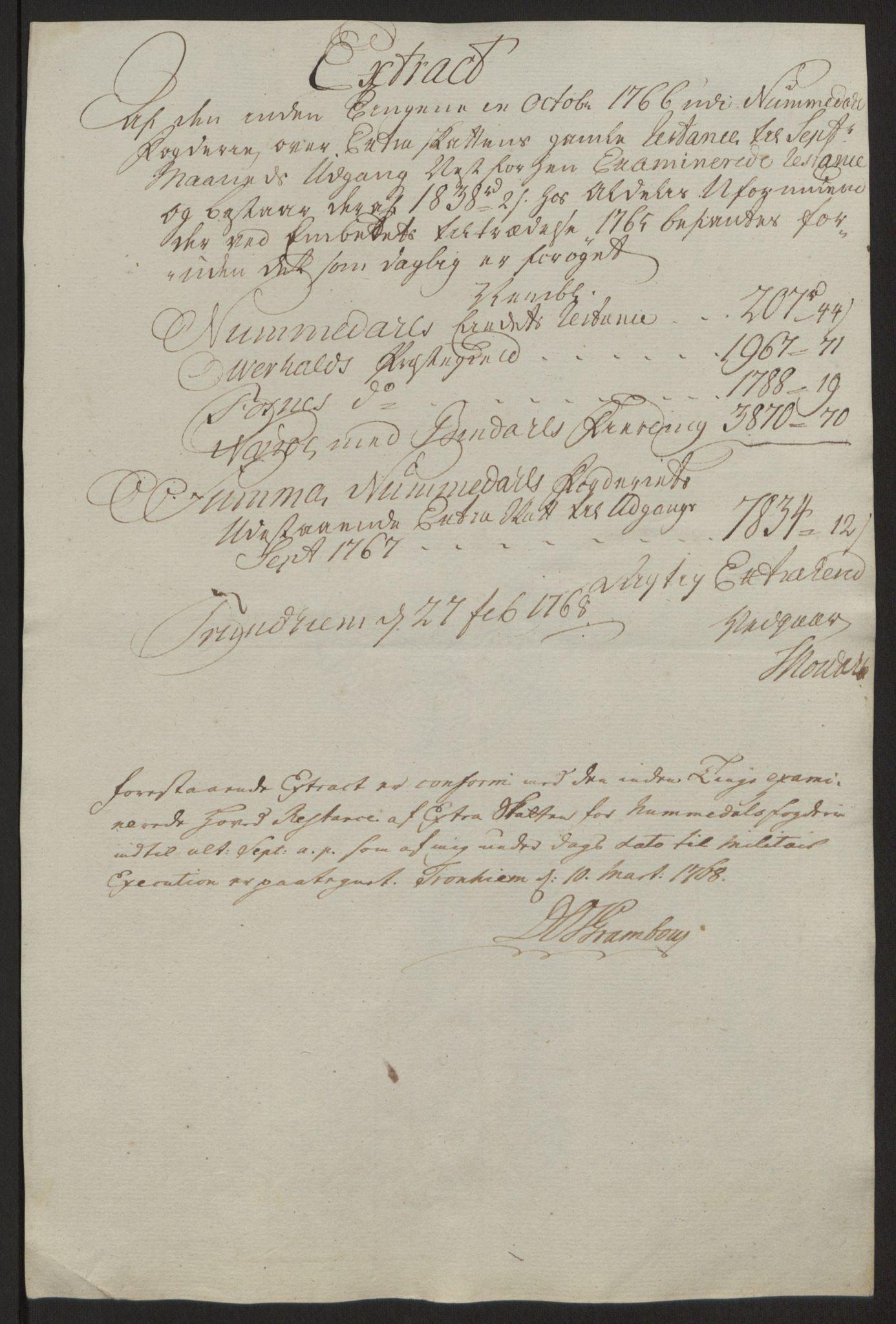 RA, Rentekammeret inntil 1814, Reviderte regnskaper, Fogderegnskap, R64/L4502: Ekstraskatten Namdal, 1762-1772, s. 251