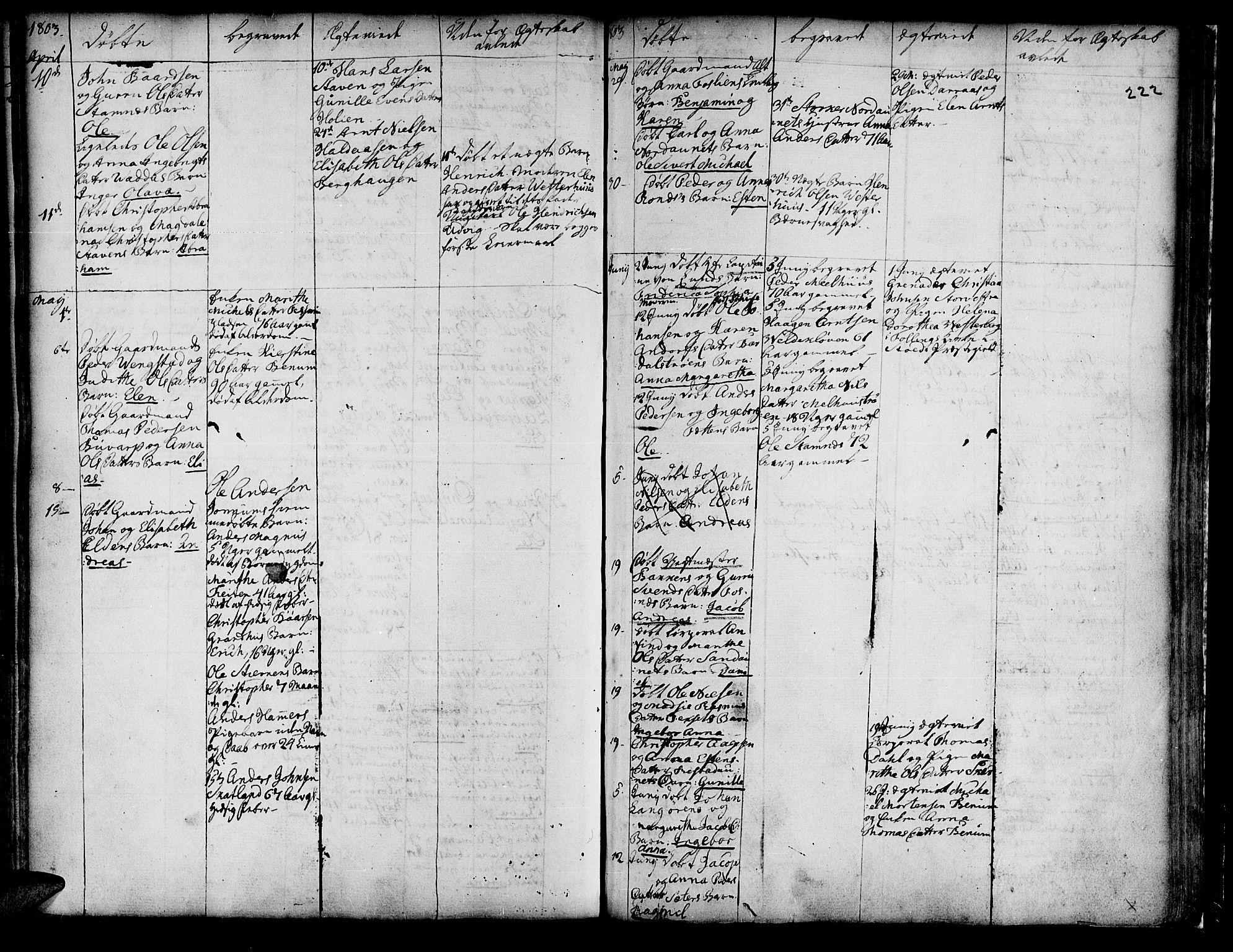 SAT, Ministerialprotokoller, klokkerbøker og fødselsregistre - Nord-Trøndelag, 741/L0385: Ministerialbok nr. 741A01, 1722-1815, s. 222