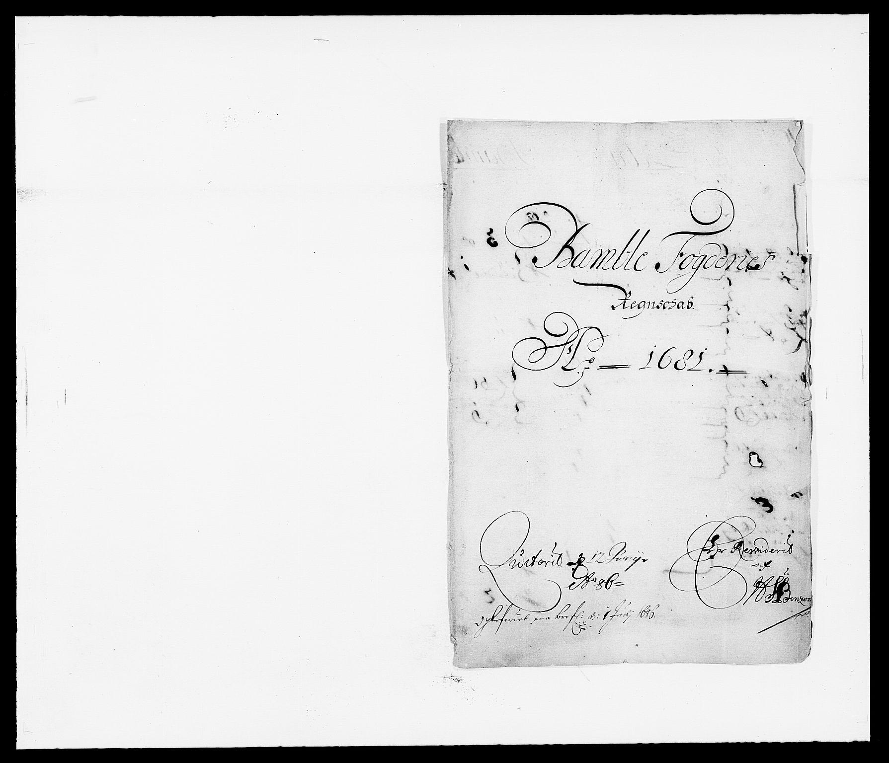 RA, Rentekammeret inntil 1814, Reviderte regnskaper, Fogderegnskap, R34/L2045: Fogderegnskap Bamble, 1680-1681, s. 226