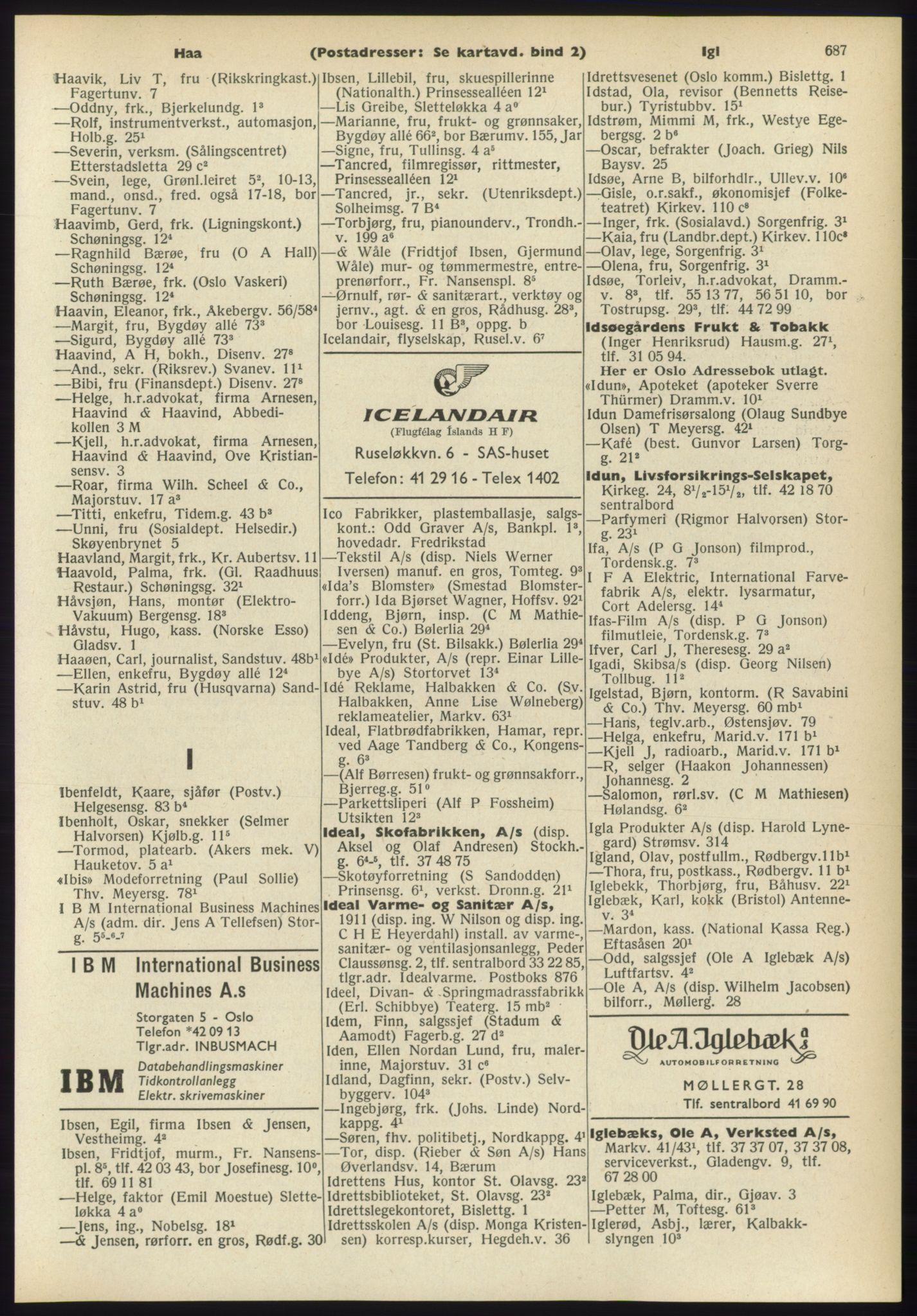RA, Oslo adressebok (publikasjon)*, 1960-1961, s. 687