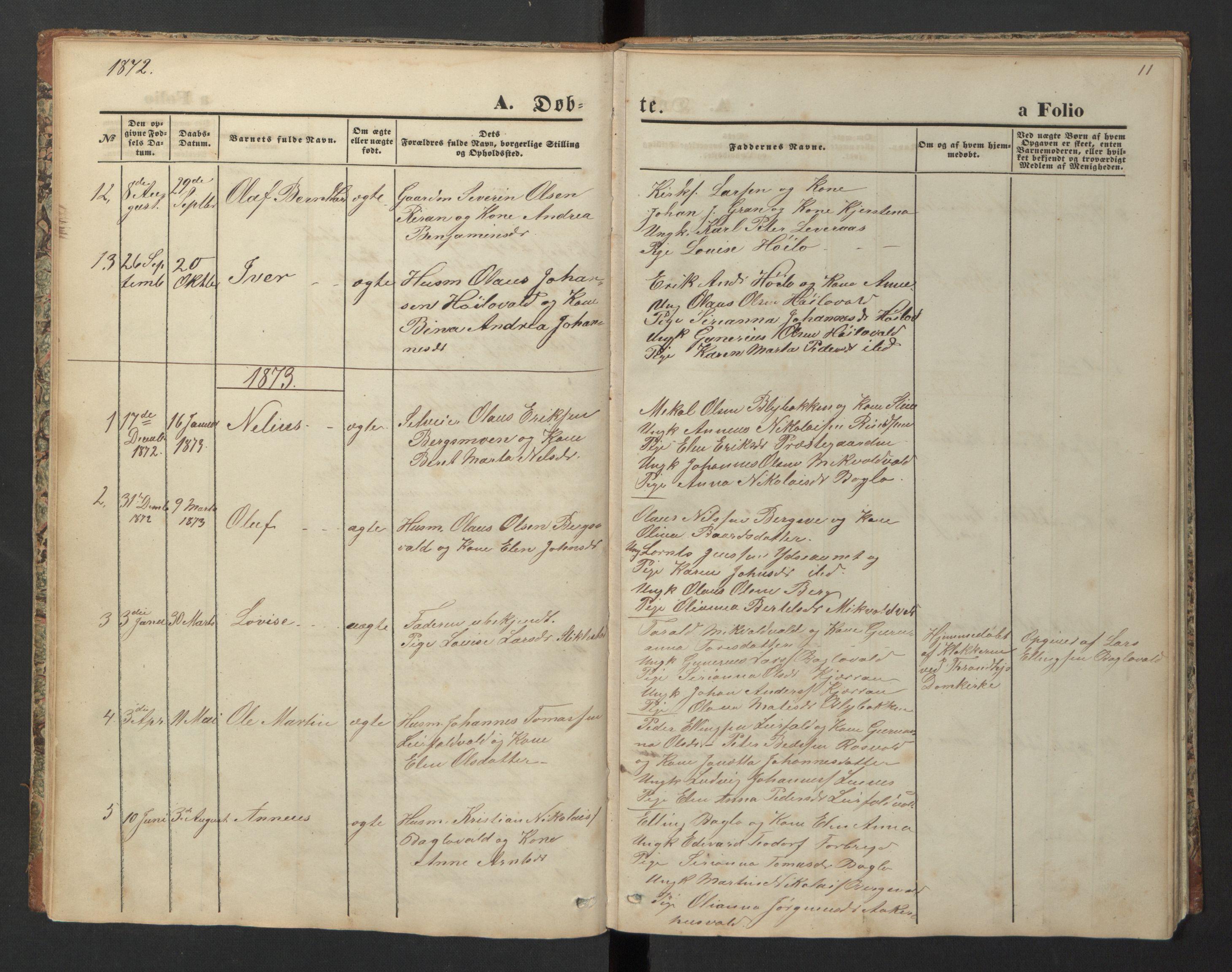 SAT, Ministerialprotokoller, klokkerbøker og fødselsregistre - Nord-Trøndelag, 726/L0271: Klokkerbok nr. 726C02, 1869-1897, s. 11
