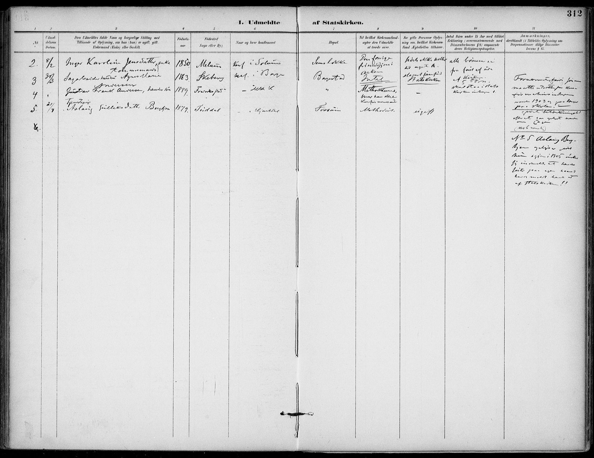 SAKO, Gjerpen kirkebøker, F/Fa/L0011: Ministerialbok nr. 11, 1896-1904, s. 312