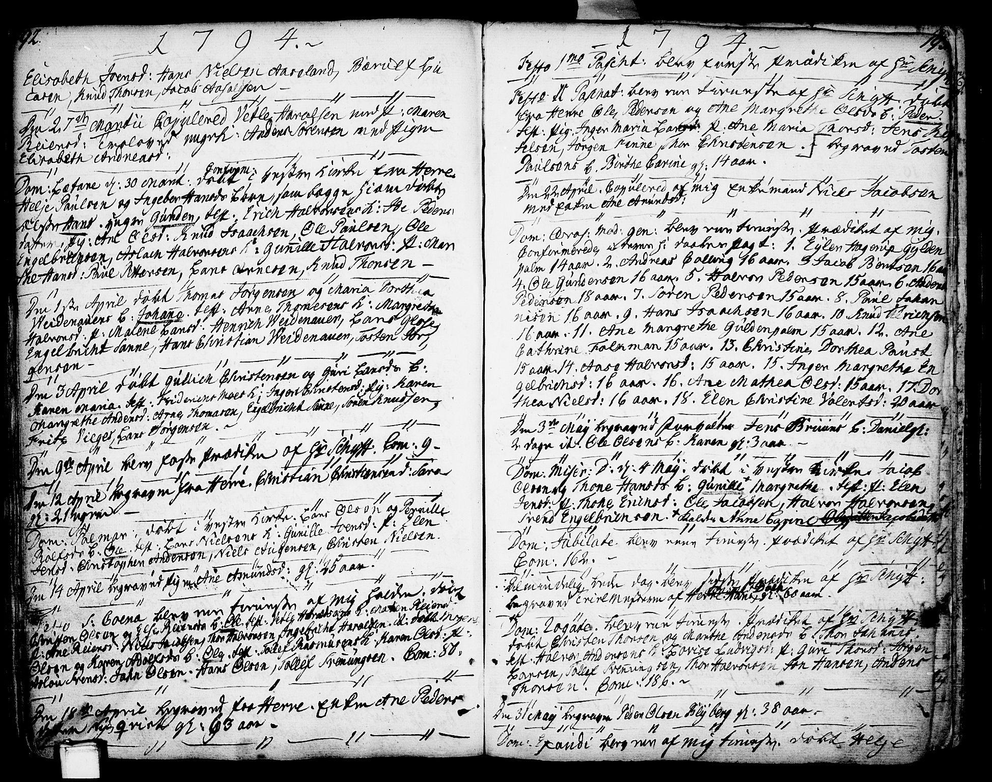 SAKO, Porsgrunn kirkebøker , F/Fa/L0002: Ministerialbok nr. 2, 1764-1814, s. 192-193