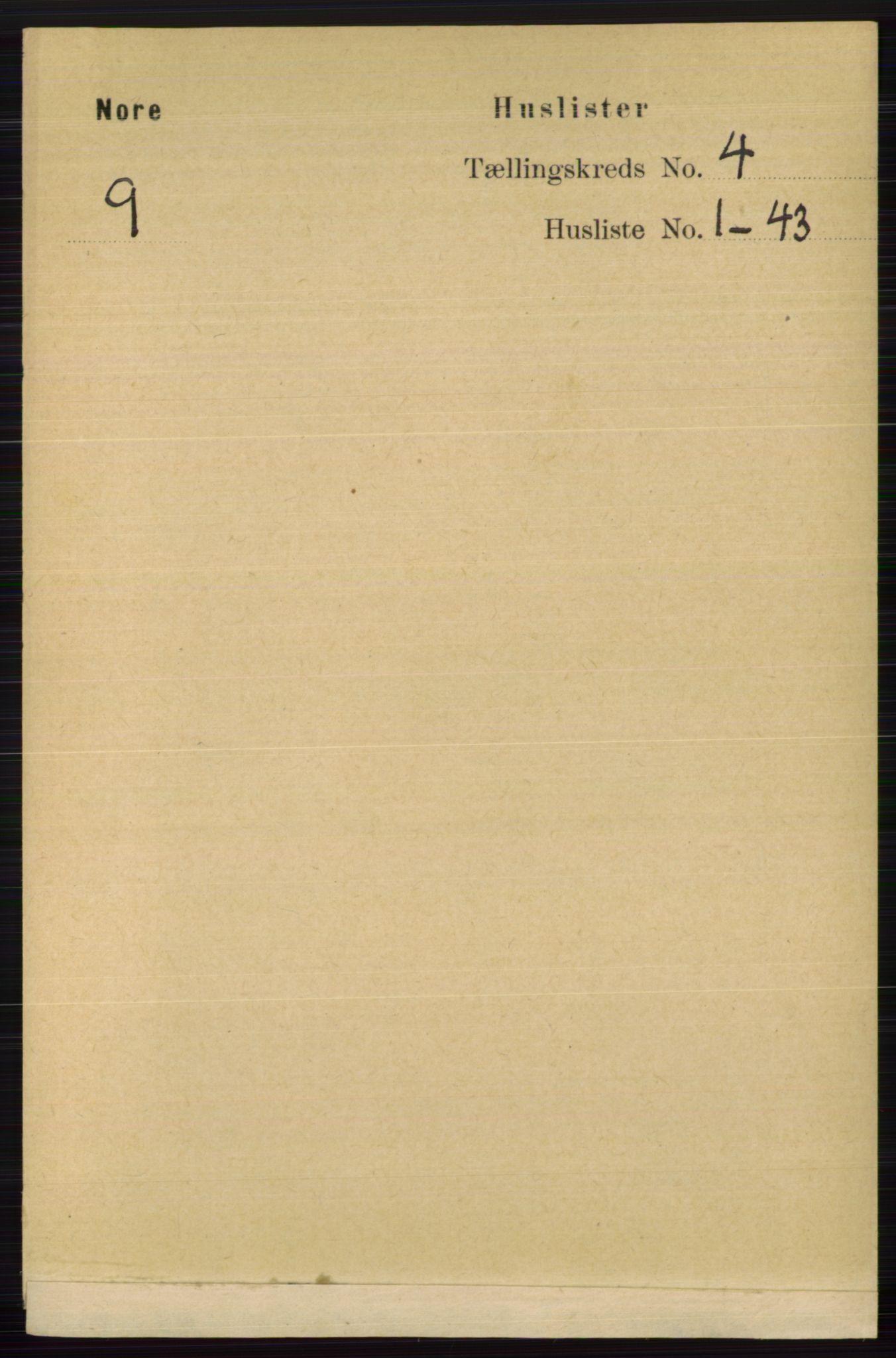 RA, Folketelling 1891 for 0633 Nore herred, 1891, s. 1218