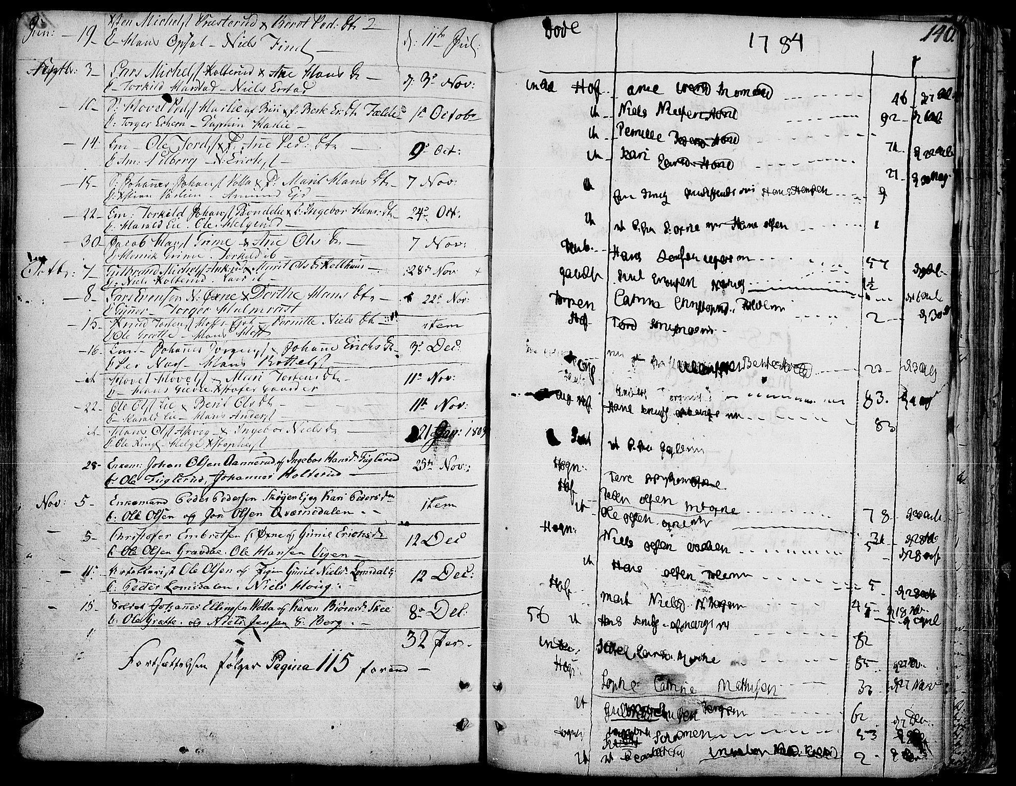 SAH, Land prestekontor, Ministerialbok nr. 6, 1784-1813, s. 140