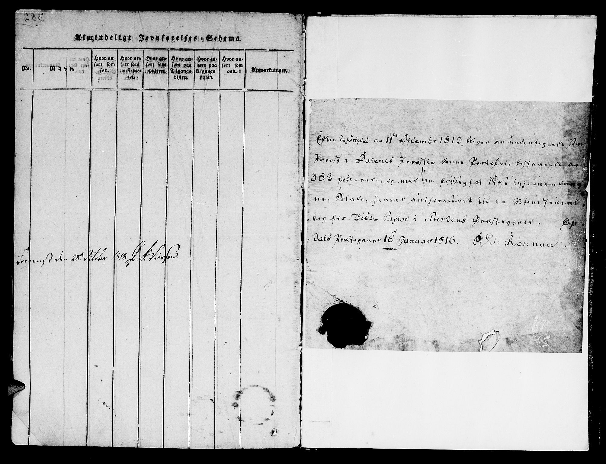 SAT, Ministerialprotokoller, klokkerbøker og fødselsregistre - Sør-Trøndelag, 606/L0283: Ministerialbok nr. 606A03 /1, 1818-1823