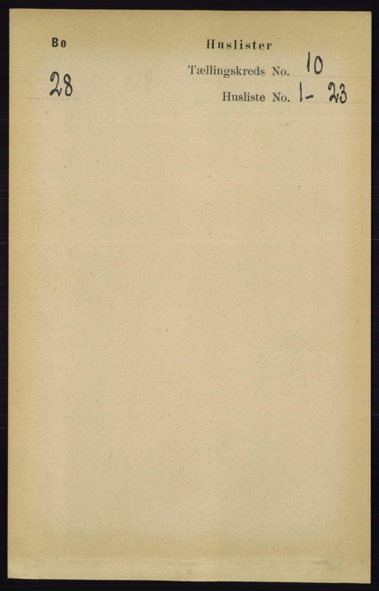 RA, Folketelling 1891 for 0821 Bø herred, 1891, s. 3160