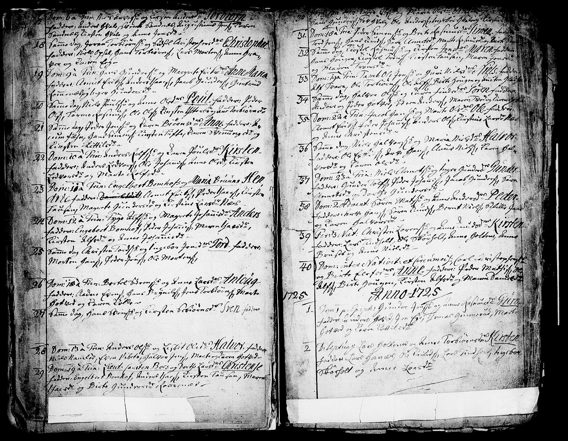 SAKO, Holla kirkebøker, F/Fa/L0001: Ministerialbok nr. 1, 1717-1779, s. 11