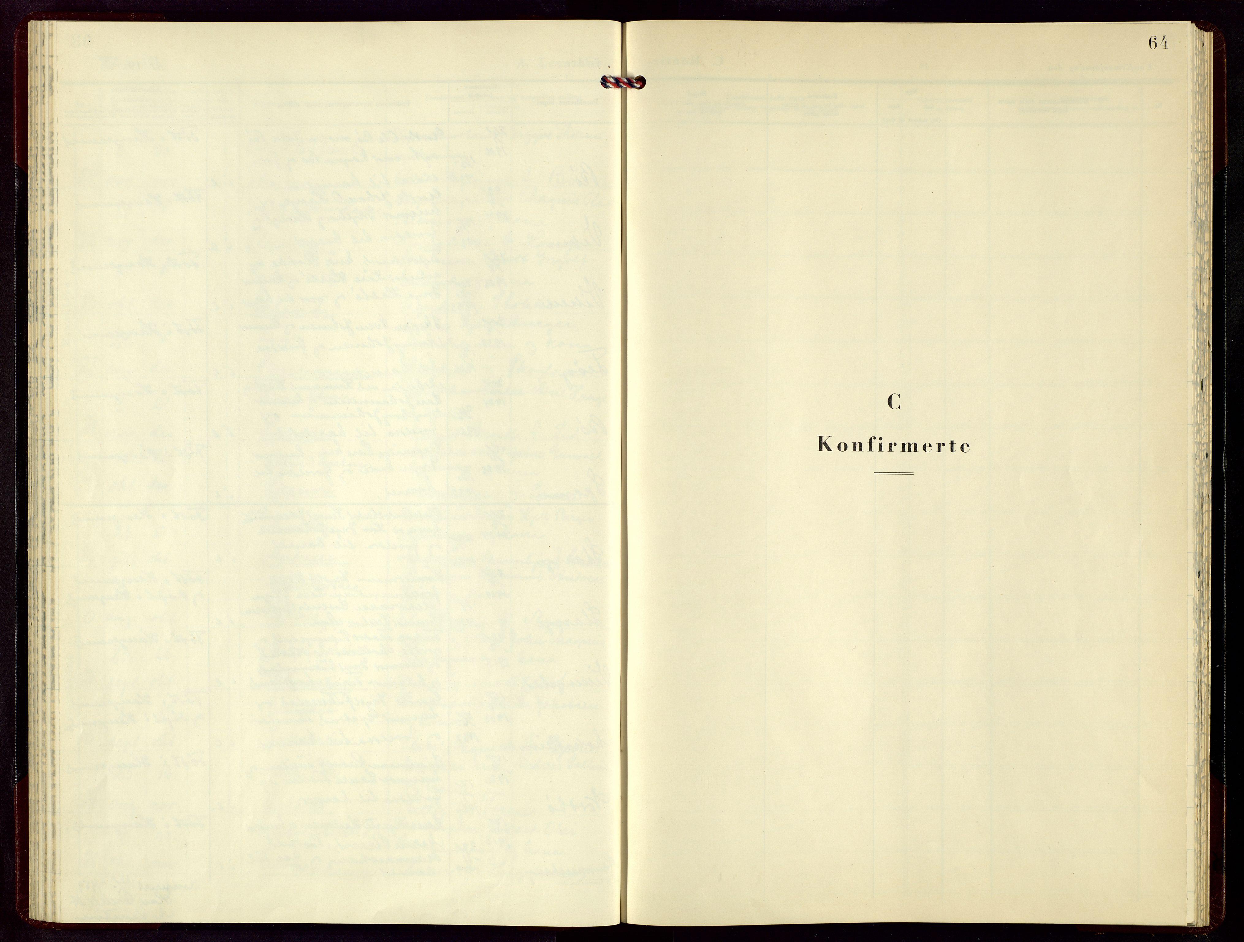 SAST, Torvastad sokneprestkontor, H/Ha/Hab/L0010: Klokkerbok nr. B 10, 1947-1959, s. 64