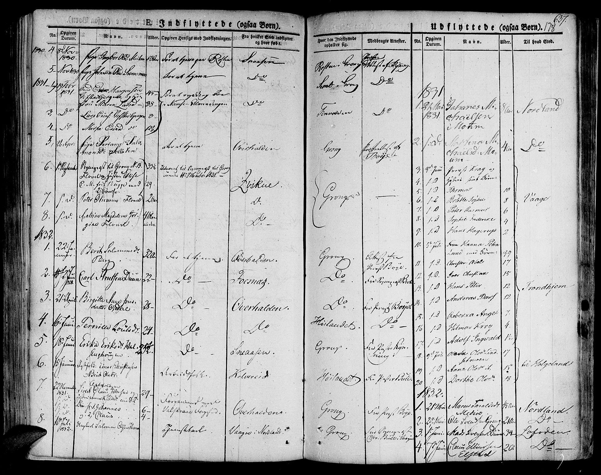 SAT, Ministerialprotokoller, klokkerbøker og fødselsregistre - Nord-Trøndelag, 758/L0510: Ministerialbok nr. 758A01 /1, 1821-1841, s. 178
