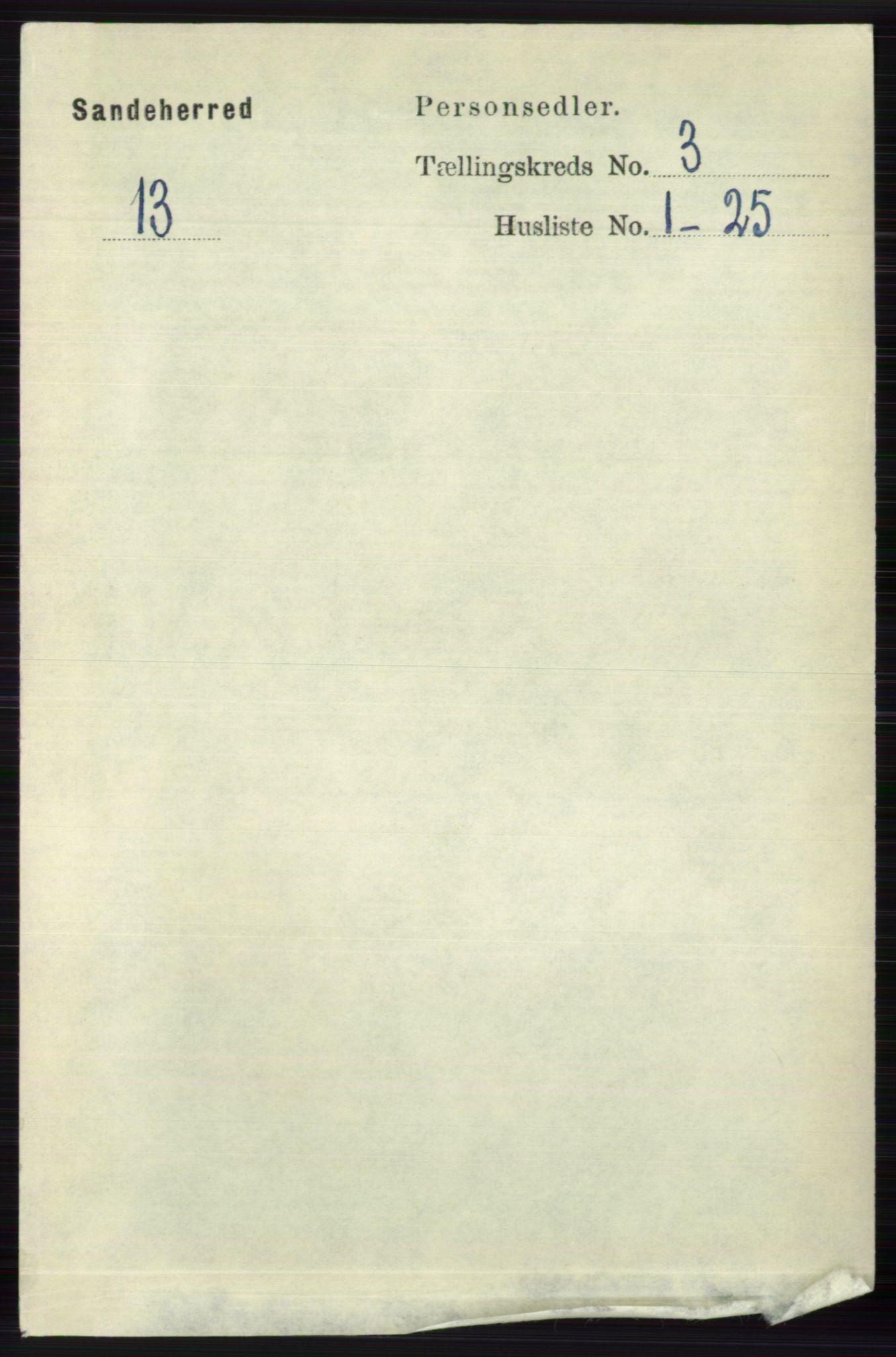 RA, Folketelling 1891 for 0724 Sandeherred herred, 1891, s. 1980