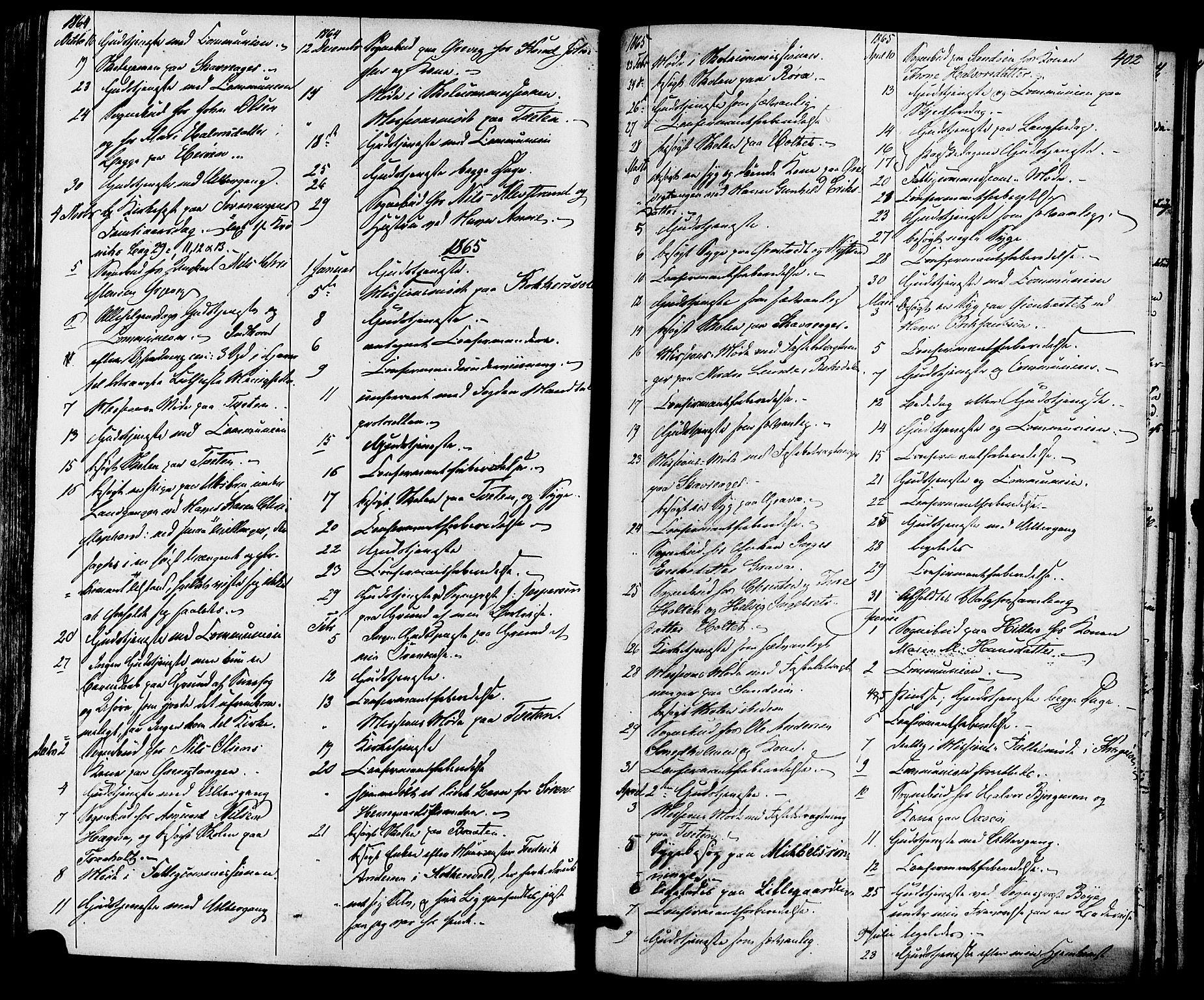 SAKO, Eidanger kirkebøker, F/Fa/L0010: Ministerialbok nr. 10, 1859-1874, s. 402