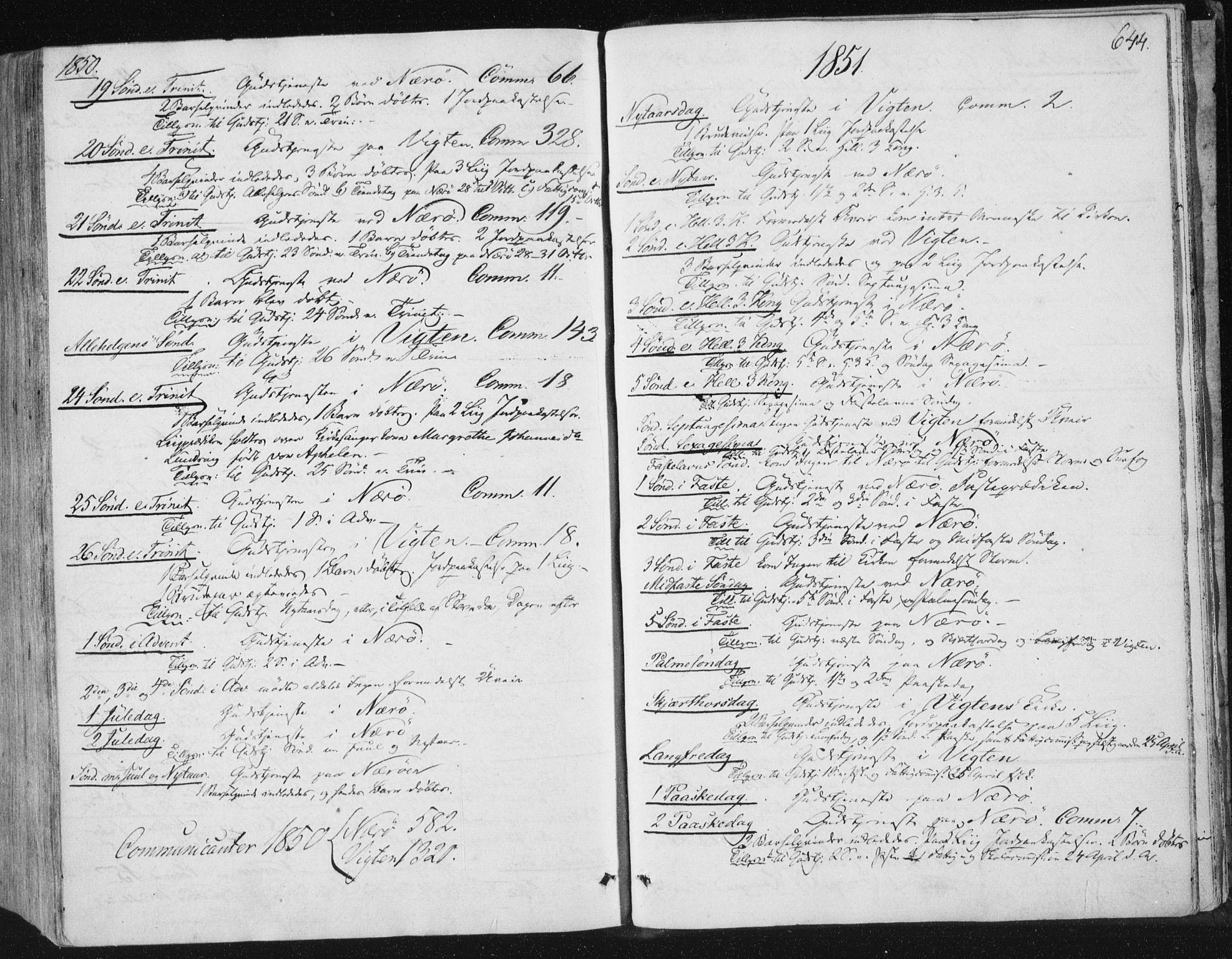 SAT, Ministerialprotokoller, klokkerbøker og fødselsregistre - Nord-Trøndelag, 784/L0669: Ministerialbok nr. 784A04, 1829-1859, s. 644