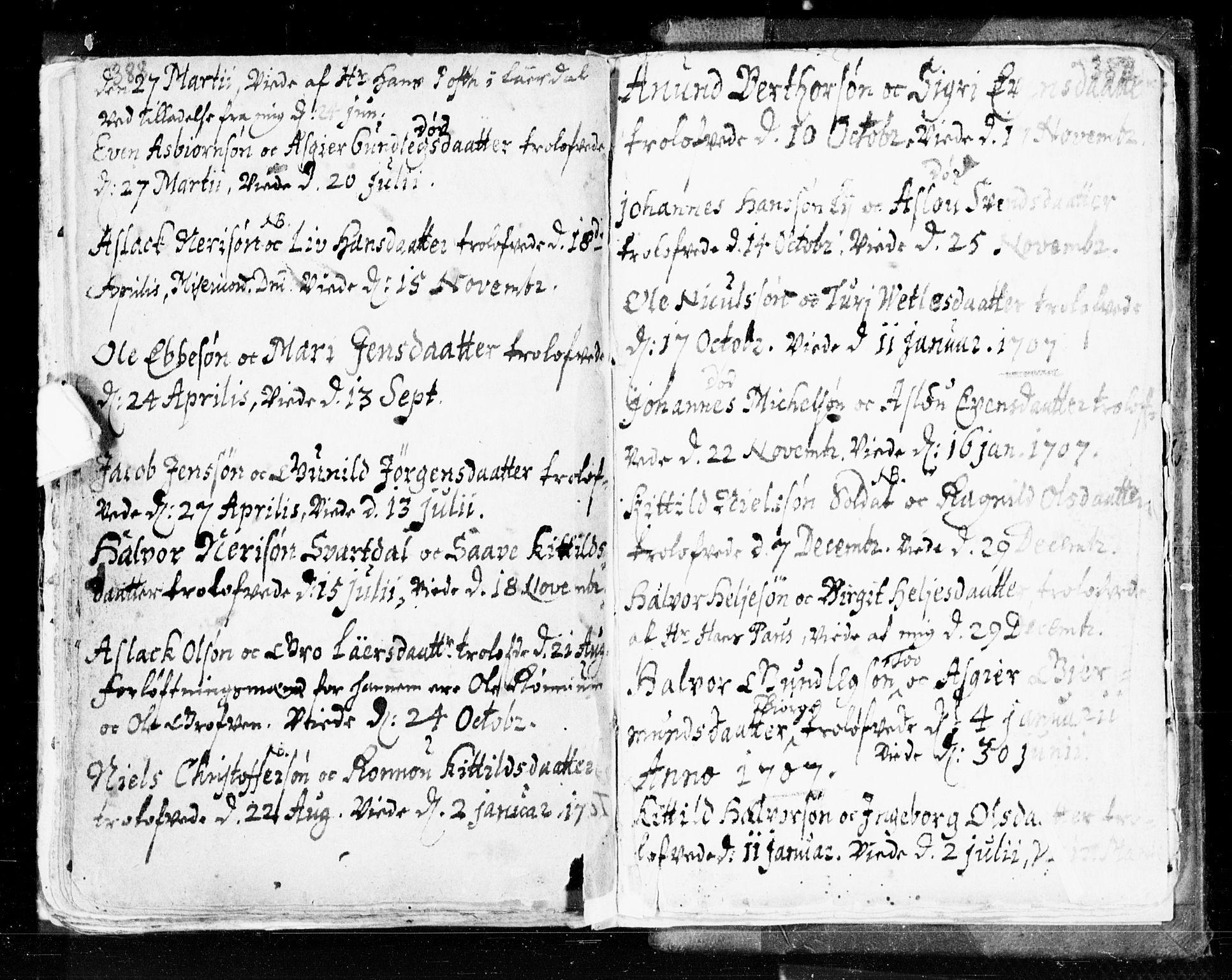 SAKO, Seljord kirkebøker, F/Fa/L0002: Ministerialbok nr. I 2, 1689-1713, s. 388-389