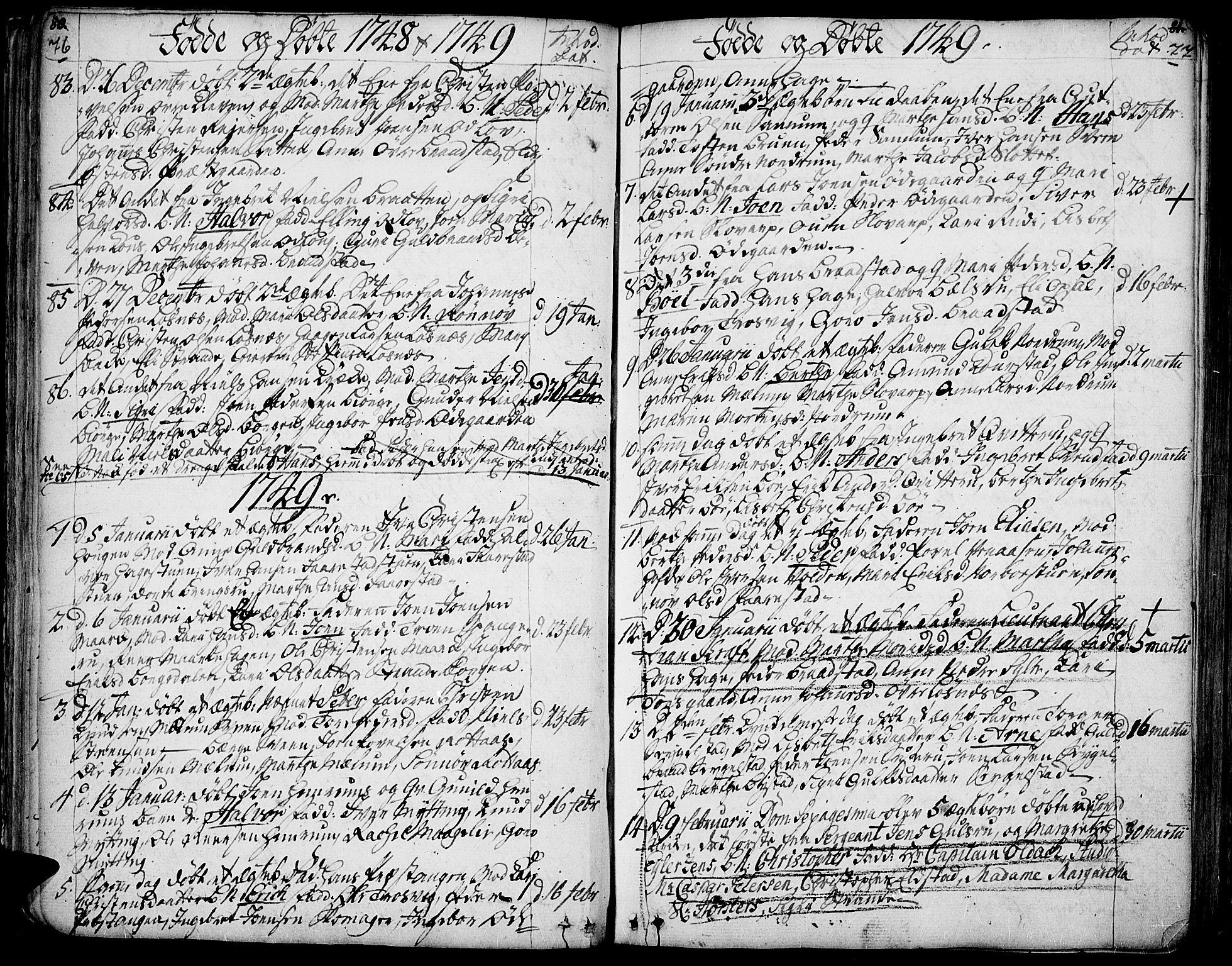 SAH, Ringebu prestekontor, Ministerialbok nr. 2, 1734-1780, s. 76-77