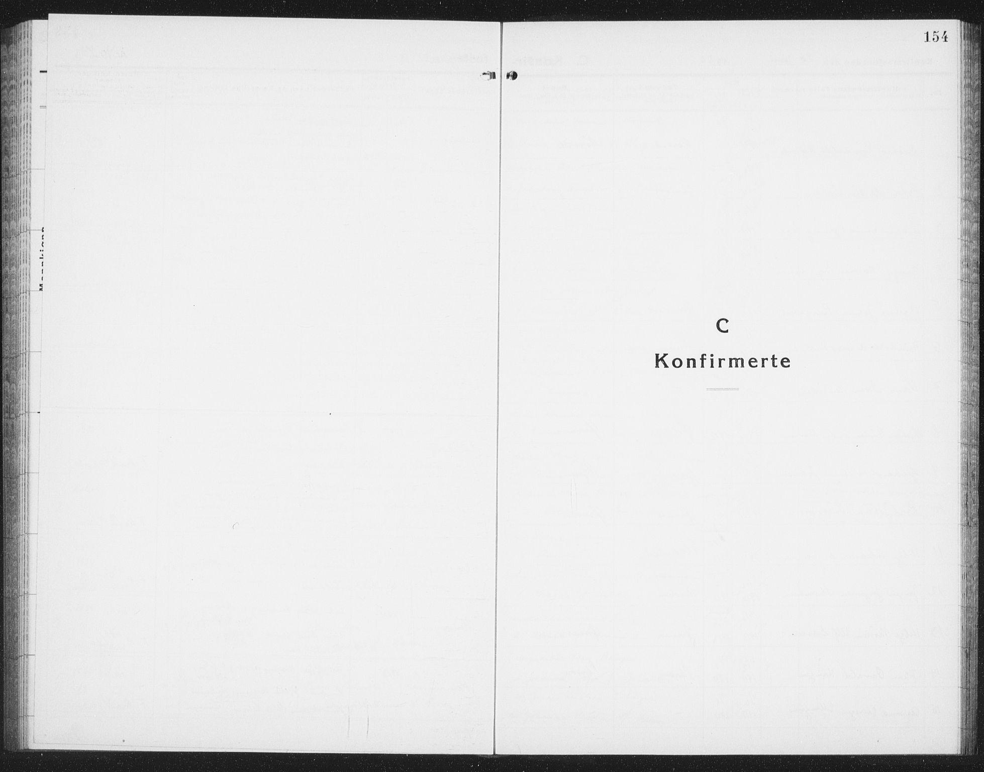 SAT, Ministerialprotokoller, klokkerbøker og fødselsregistre - Nordland, 874/L1081: Klokkerbok nr. 874C10, 1925-1941, s. 154