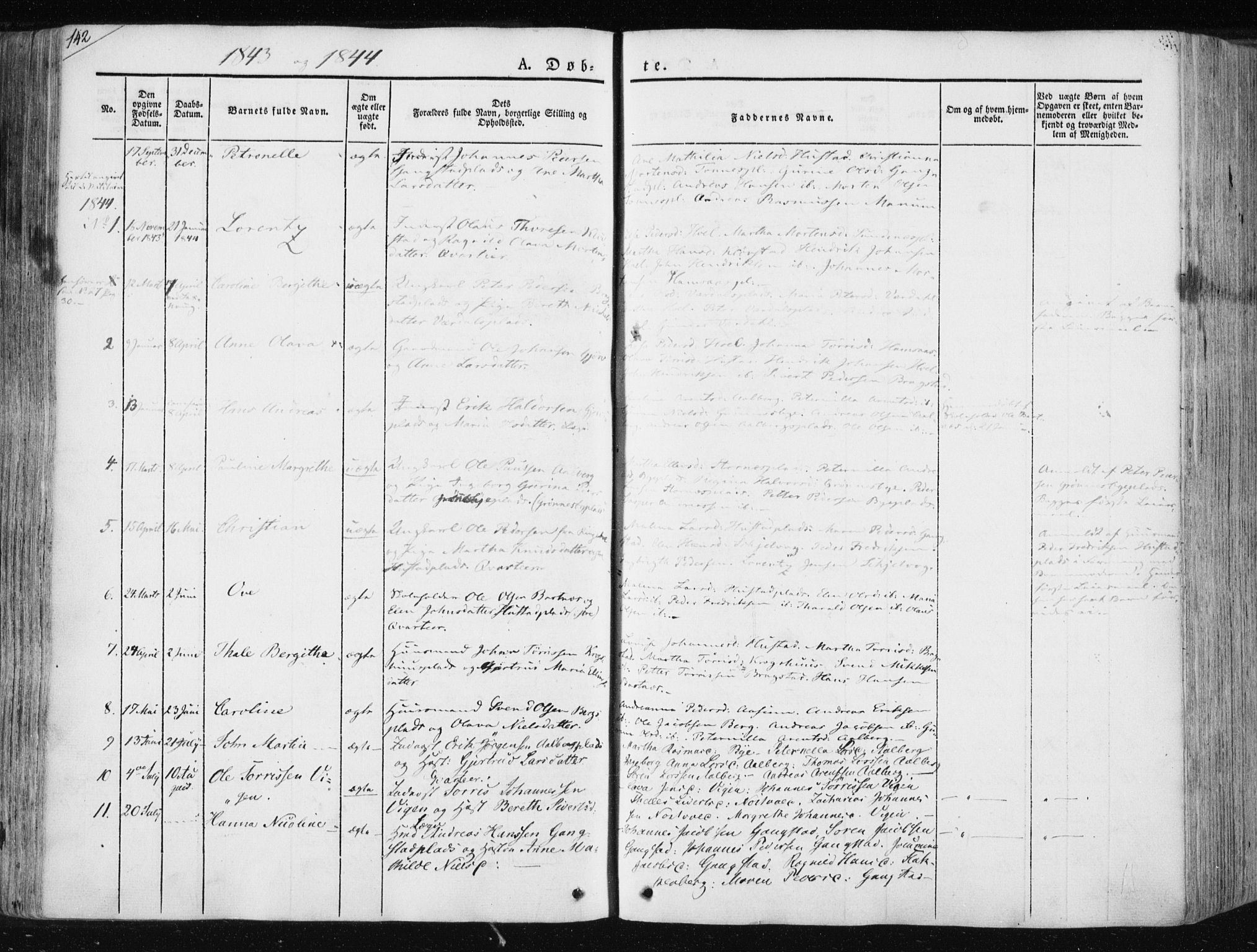 SAT, Ministerialprotokoller, klokkerbøker og fødselsregistre - Nord-Trøndelag, 730/L0280: Ministerialbok nr. 730A07 /3, 1840-1854, s. 142
