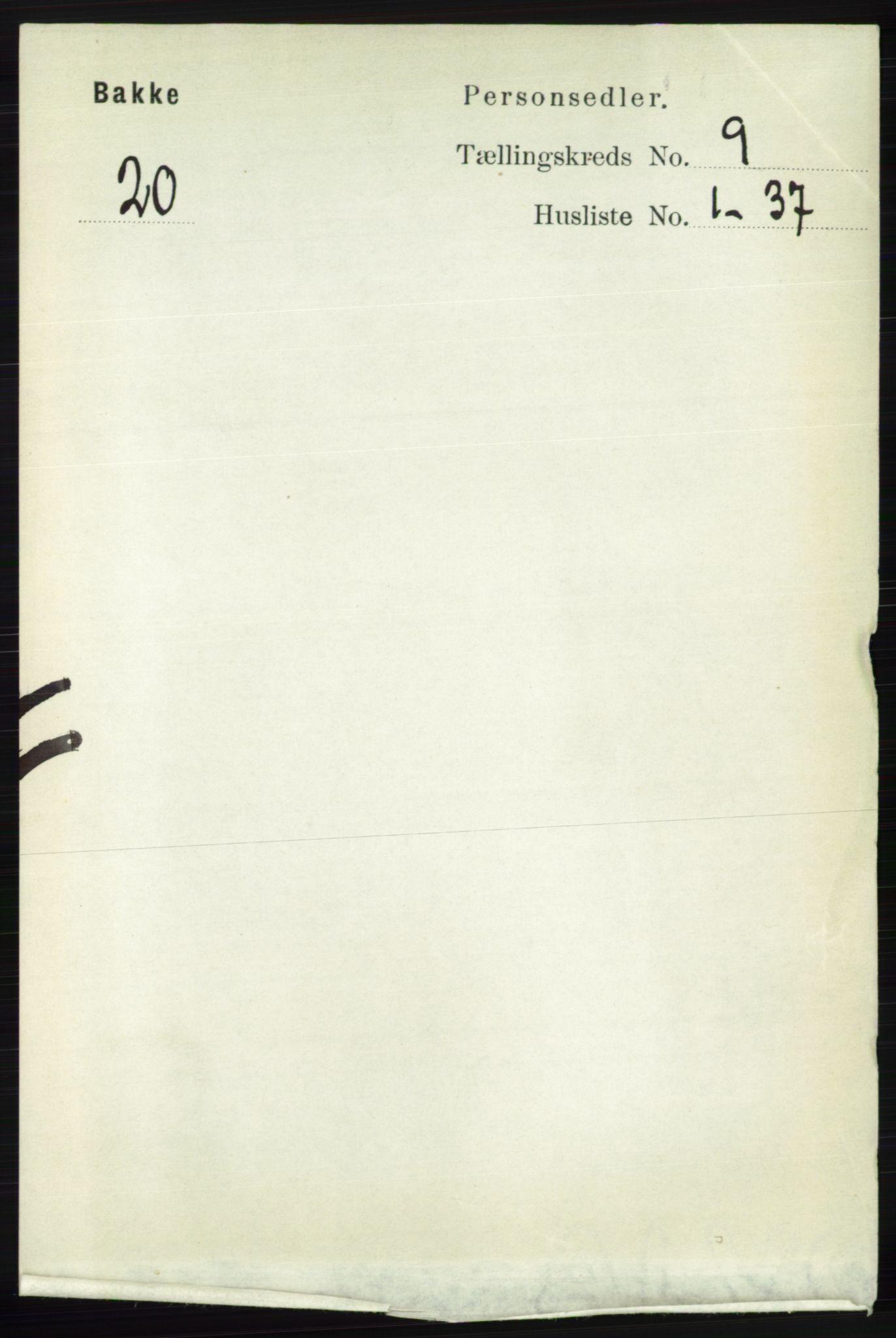 RA, Folketelling 1891 for 1045 Bakke herred, 1891, s. 1752