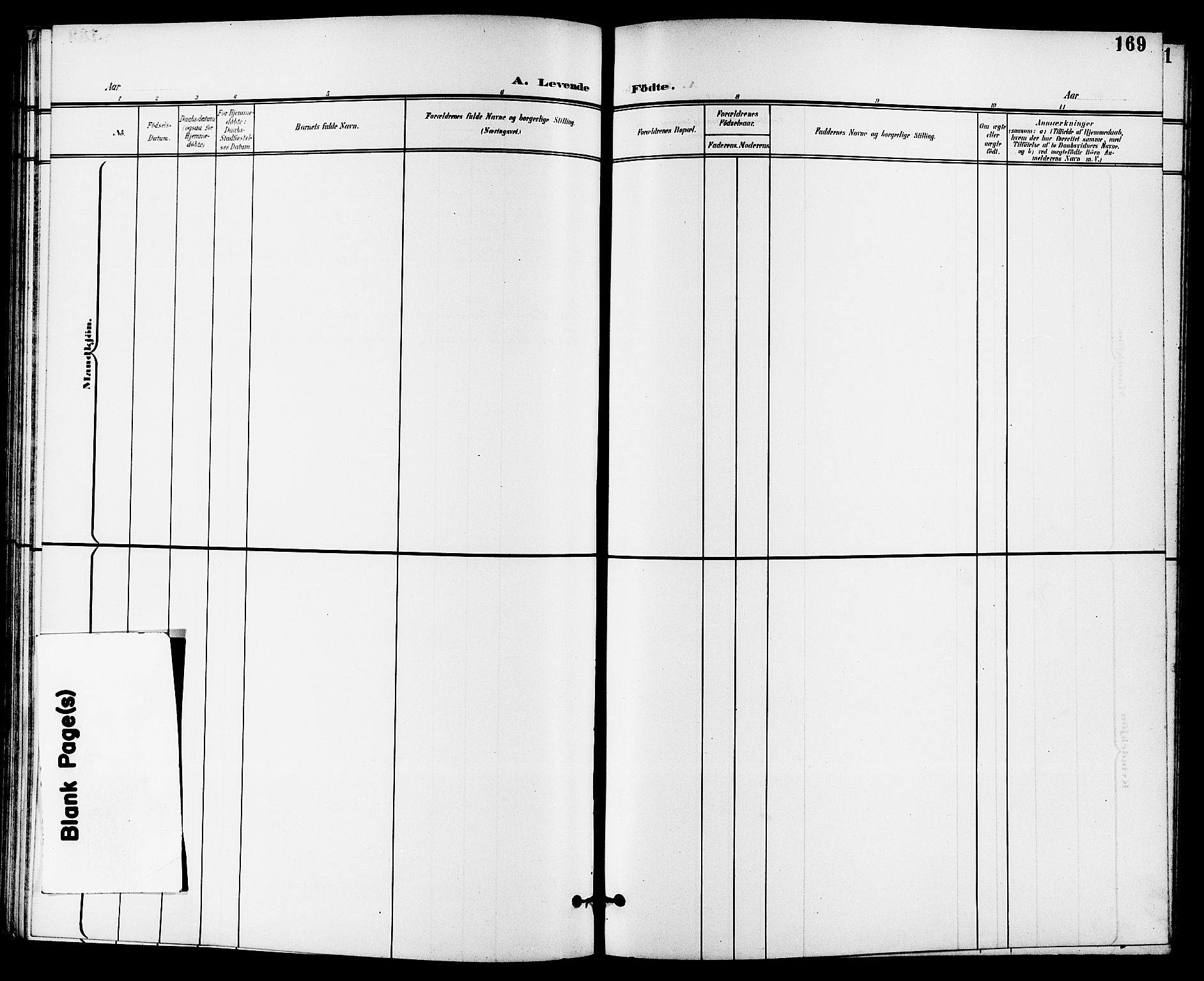 SAKO, Skien kirkebøker, G/Ga/L0008: Klokkerbok nr. 8, 1900-1910, s. 169