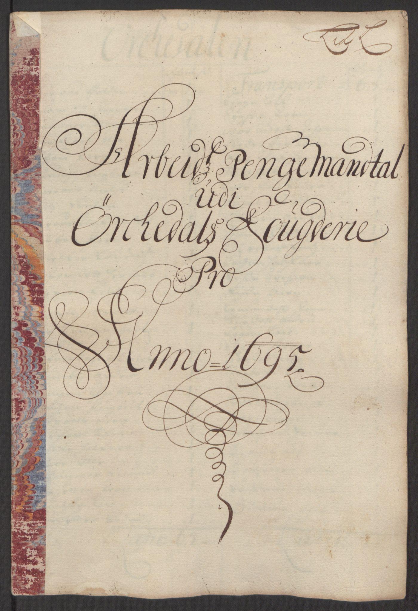 RA, Rentekammeret inntil 1814, Reviderte regnskaper, Fogderegnskap, R60/L3945: Fogderegnskap Orkdal og Gauldal, 1695, s. 187