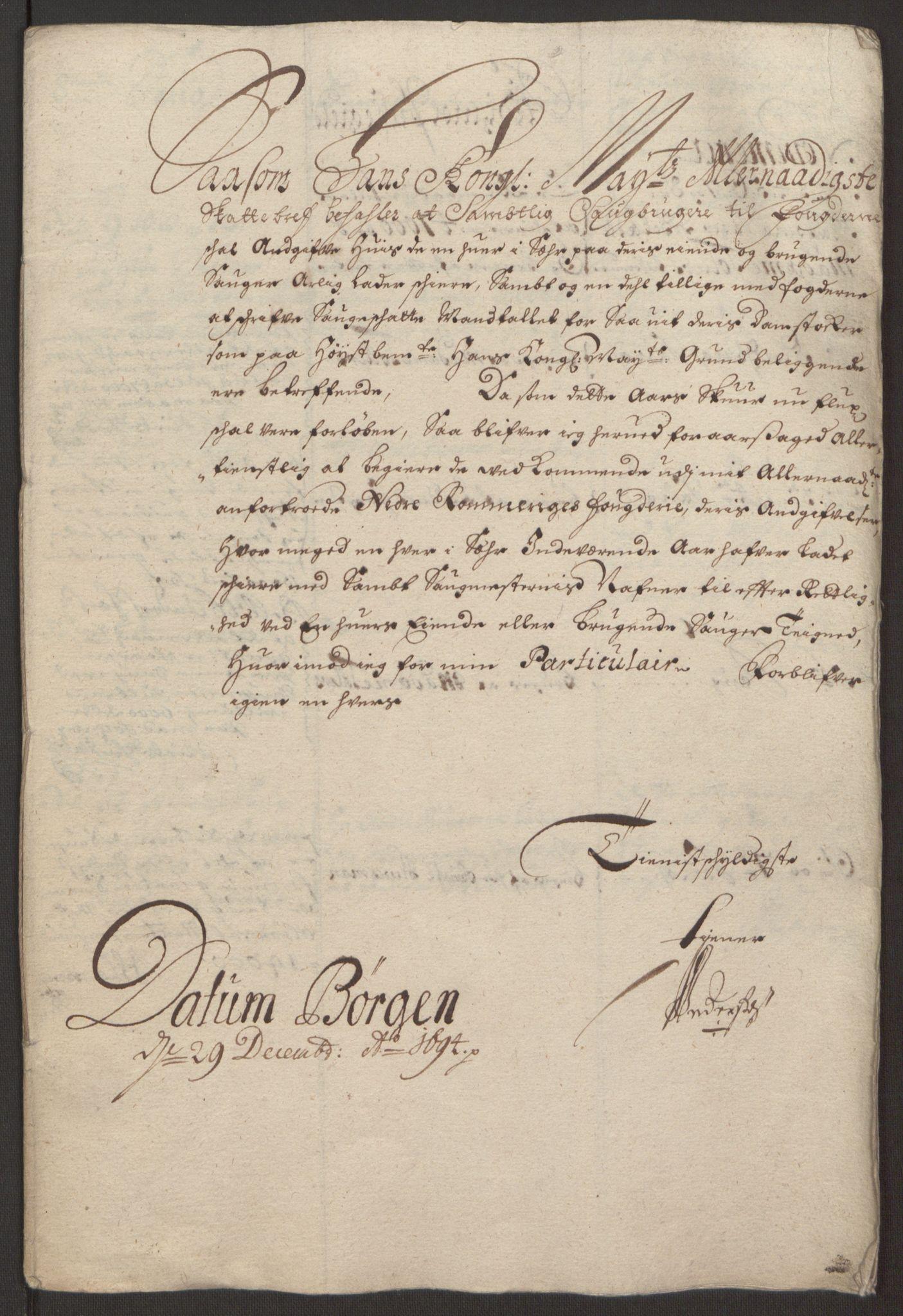 RA, Rentekammeret inntil 1814, Reviderte regnskaper, Fogderegnskap, R11/L0579: Fogderegnskap Nedre Romerike, 1694-1695, s. 188